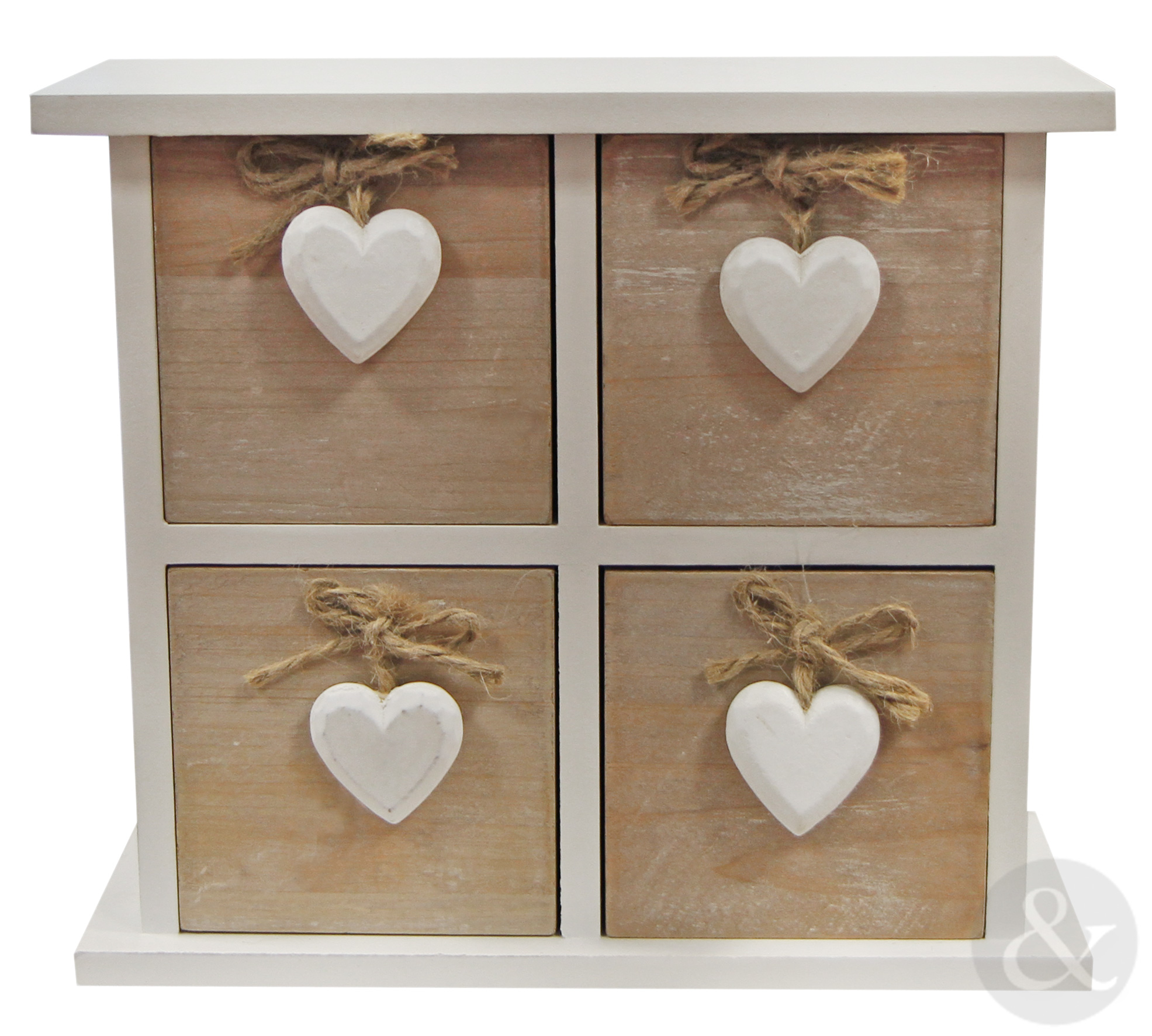 SHABBY-CHIC-WOODEN-3-or-4-DRAWER-CHEST-Vintage-White-Jewellery-Storage-Box