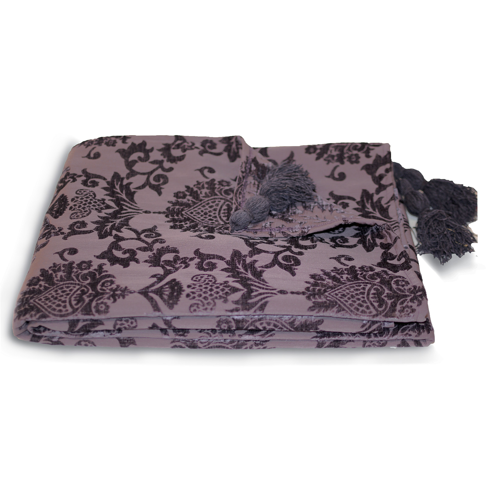 Damask chenille throw over paoletti modern bed blanket sofa throw 135 x 180 cm ebay Throw blankets for sofa
