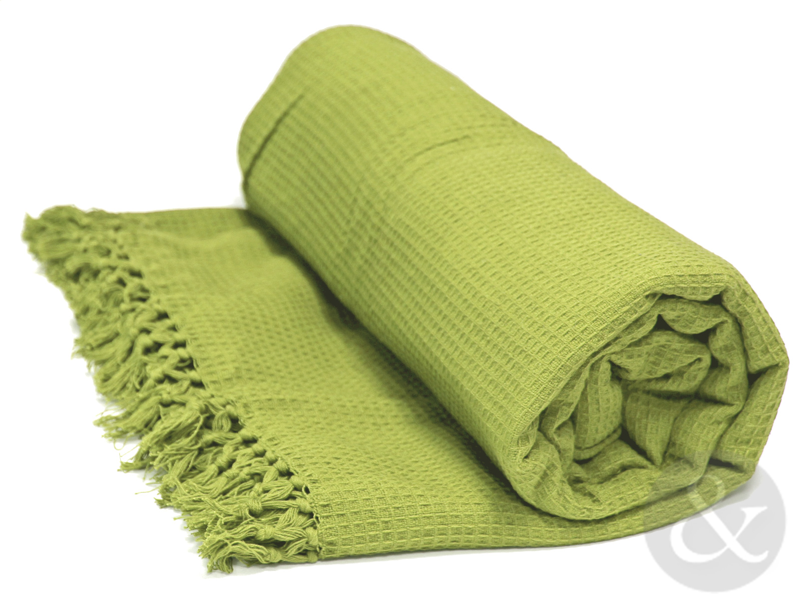 Soft 100 cotton honey comb throw with tasselled edge for Soft blankets and throws