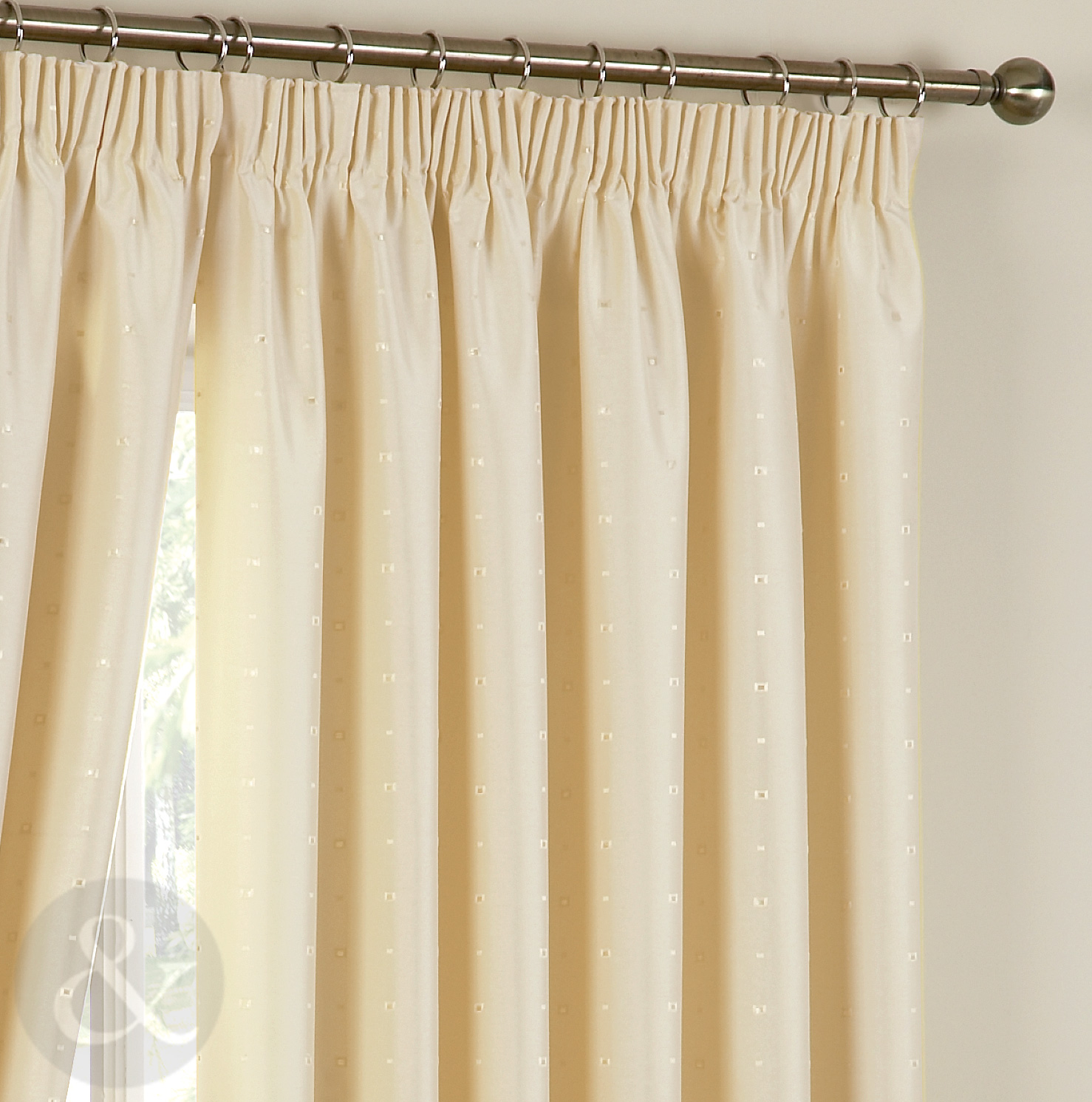 Luxury curtains heavy weight jacquard pencil pleat fully lined curtain