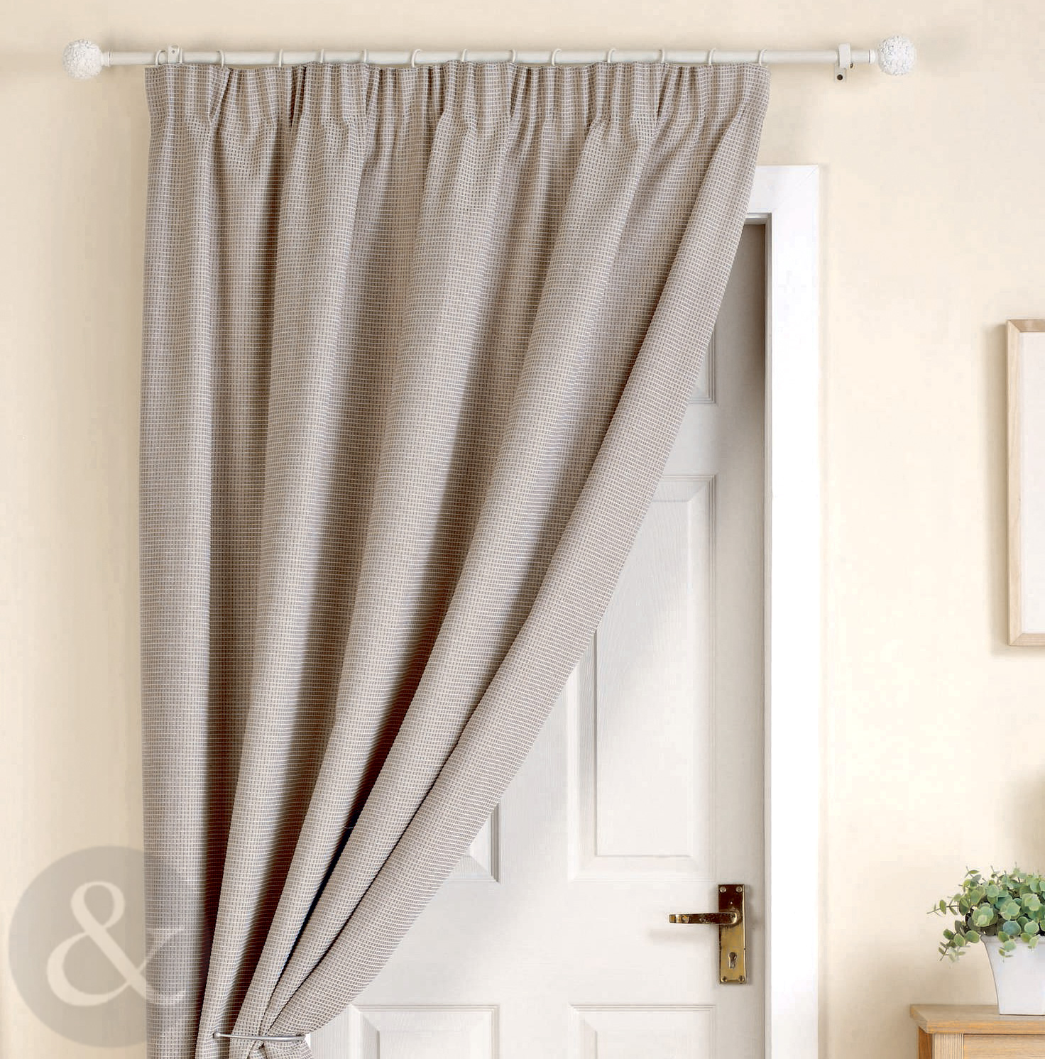 door curtains ready made thermal lined 66 x 84 door curtain panel