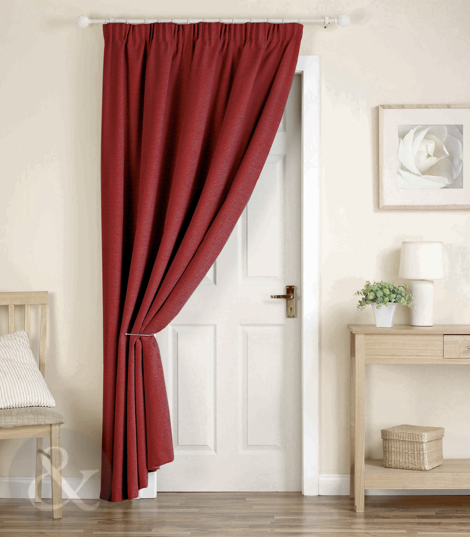 Thick Heavy Door Curtains Ready Made Thermal Lined 66 X 84 Door Curtain Panel Ebay