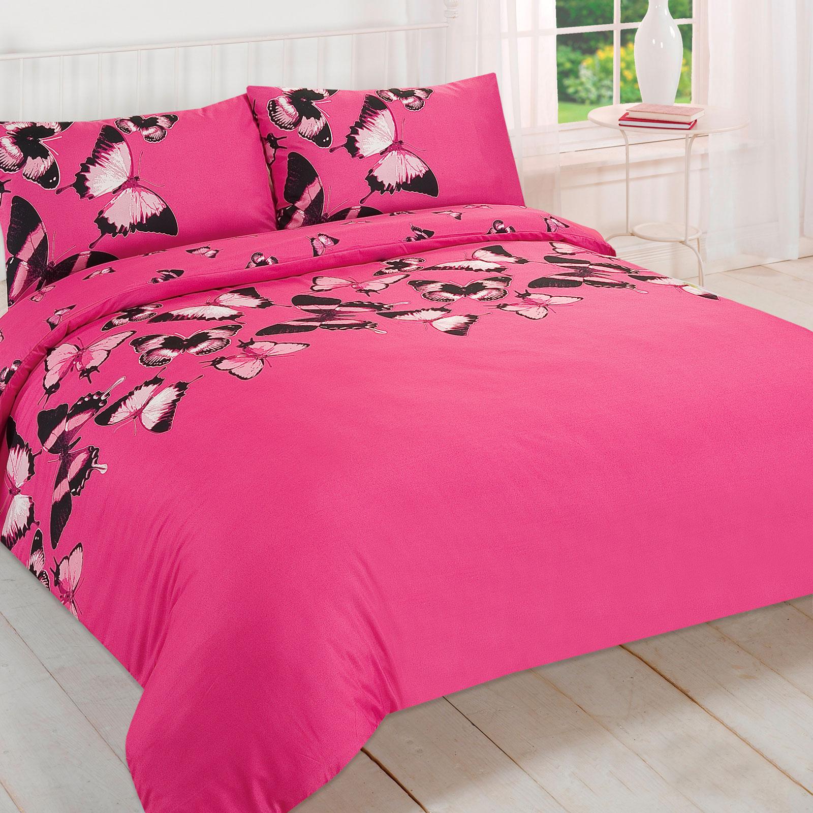 Pretty-Butterfly-Duvet-Cover-Reversible-Bedding-Set-For-