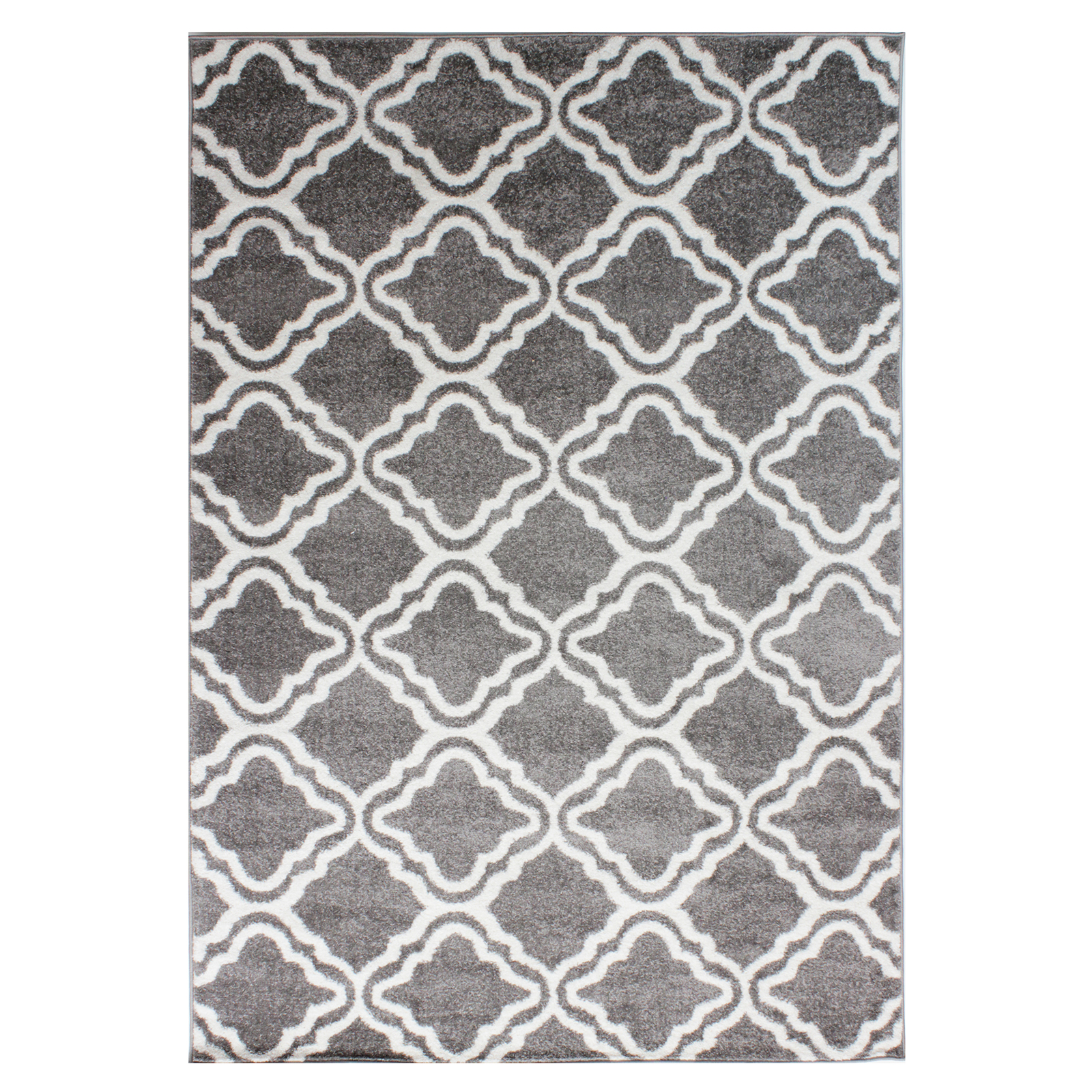 Moroccan Style Rug With Geometric Lattice Pattern