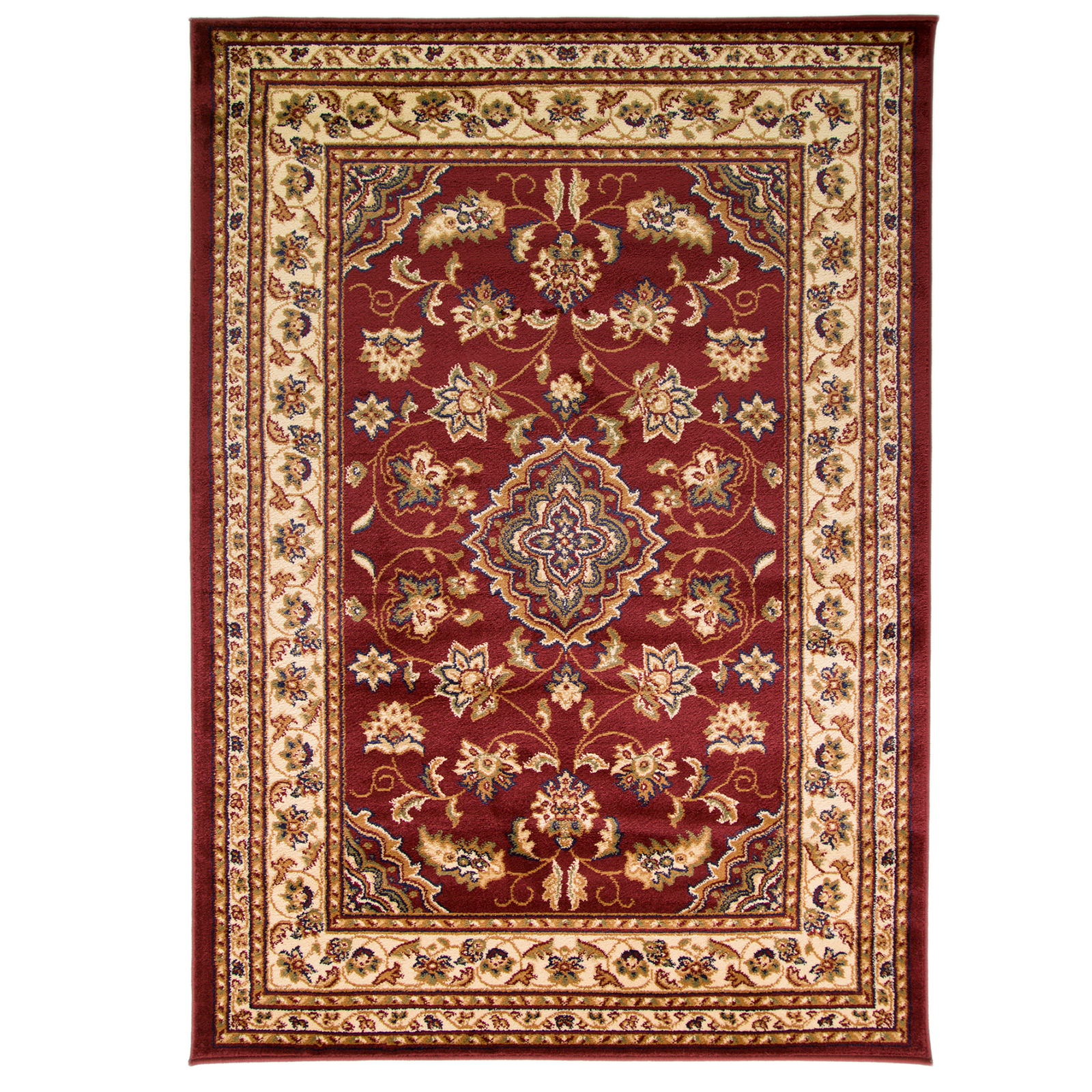 Traditional Persian Inspired Medallion Rug With Polypropylene Pile Living Room Ebay