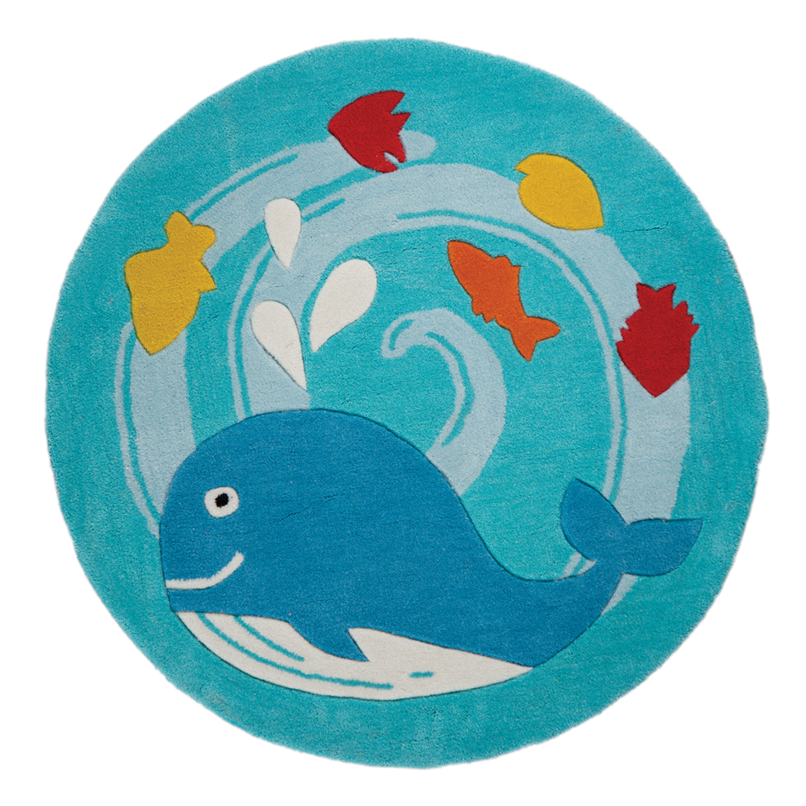 Boys Nautical Whale Play Mat Carpet Rug With Fish Design