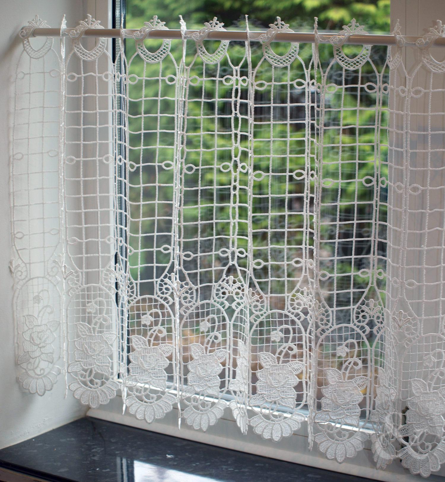 Kitchen Net Curtains: CafŽ Net Curtains - Kitchen Nets MacramŽ Ready Made Curtain Panel