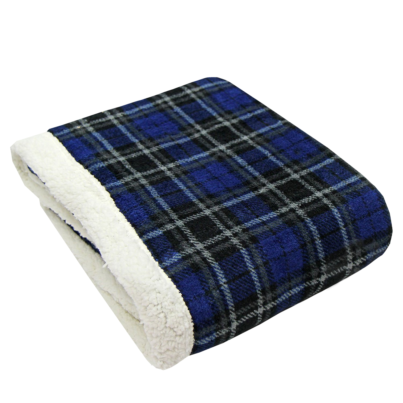 Tartan check sofa bed fleece throw super soft thermal for Soft blankets and throws