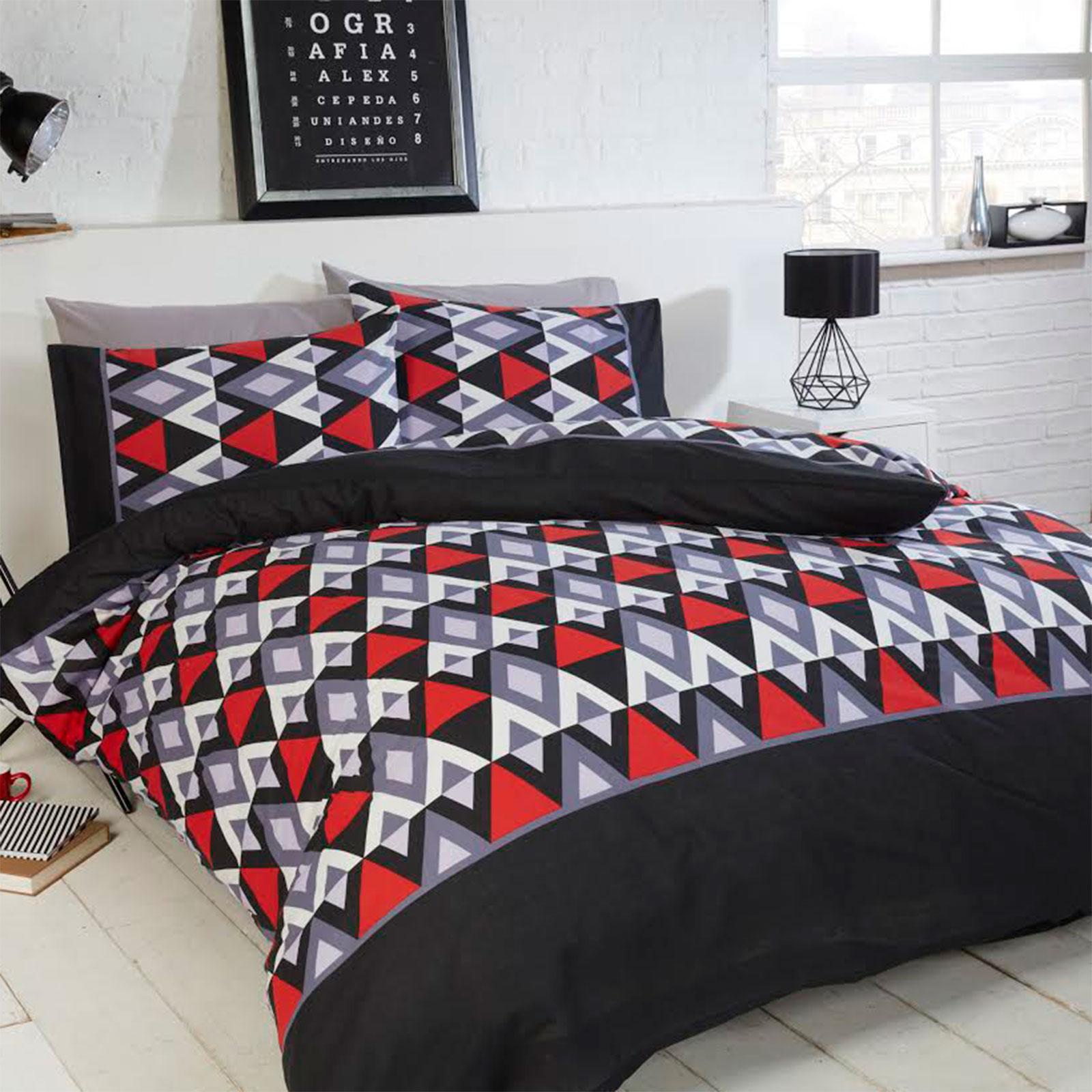 Unique Geometric Styled Duvet Cover Bedding Set with Aztec ...
