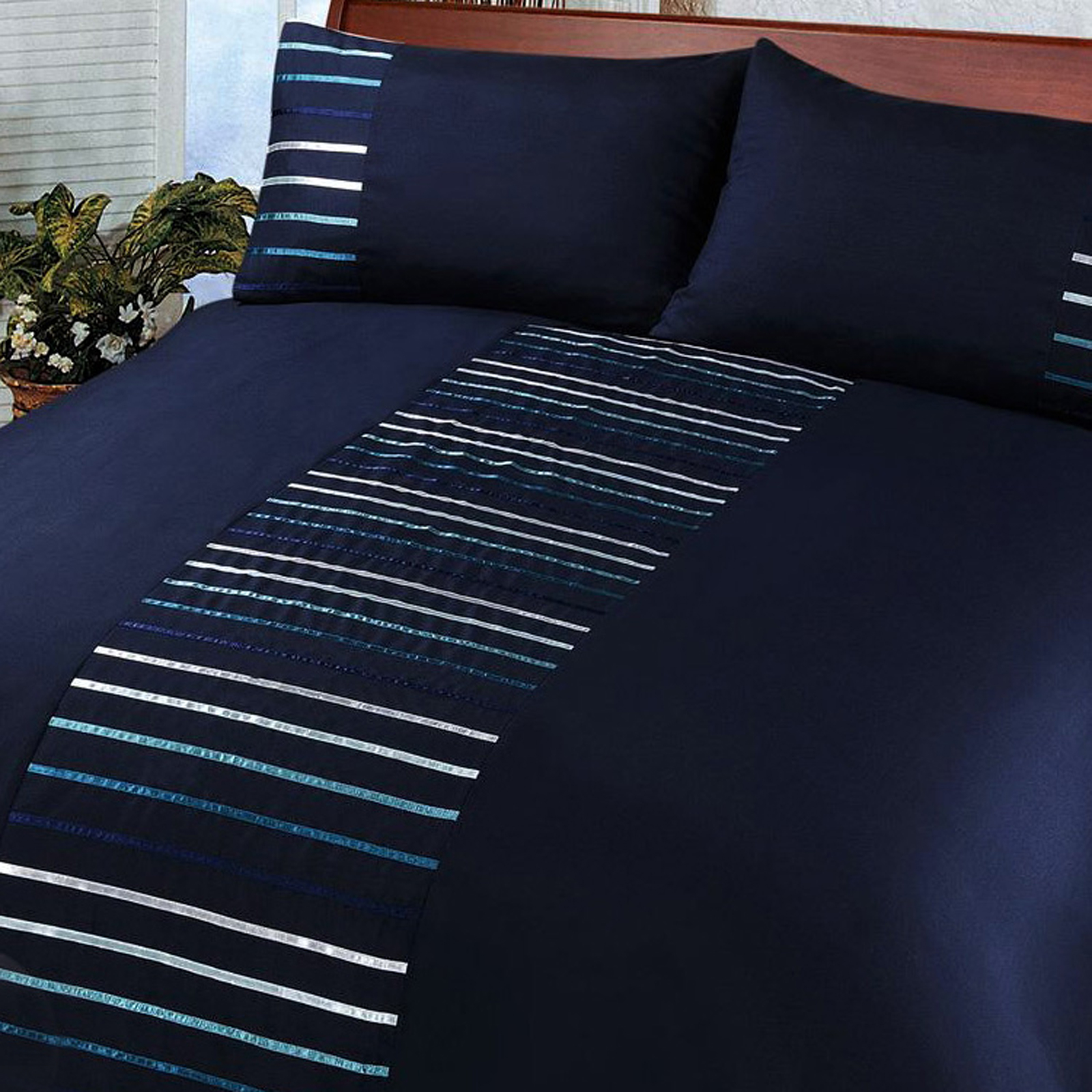 Modern Striped Duvet Cover Set Bedding Quilt Cover