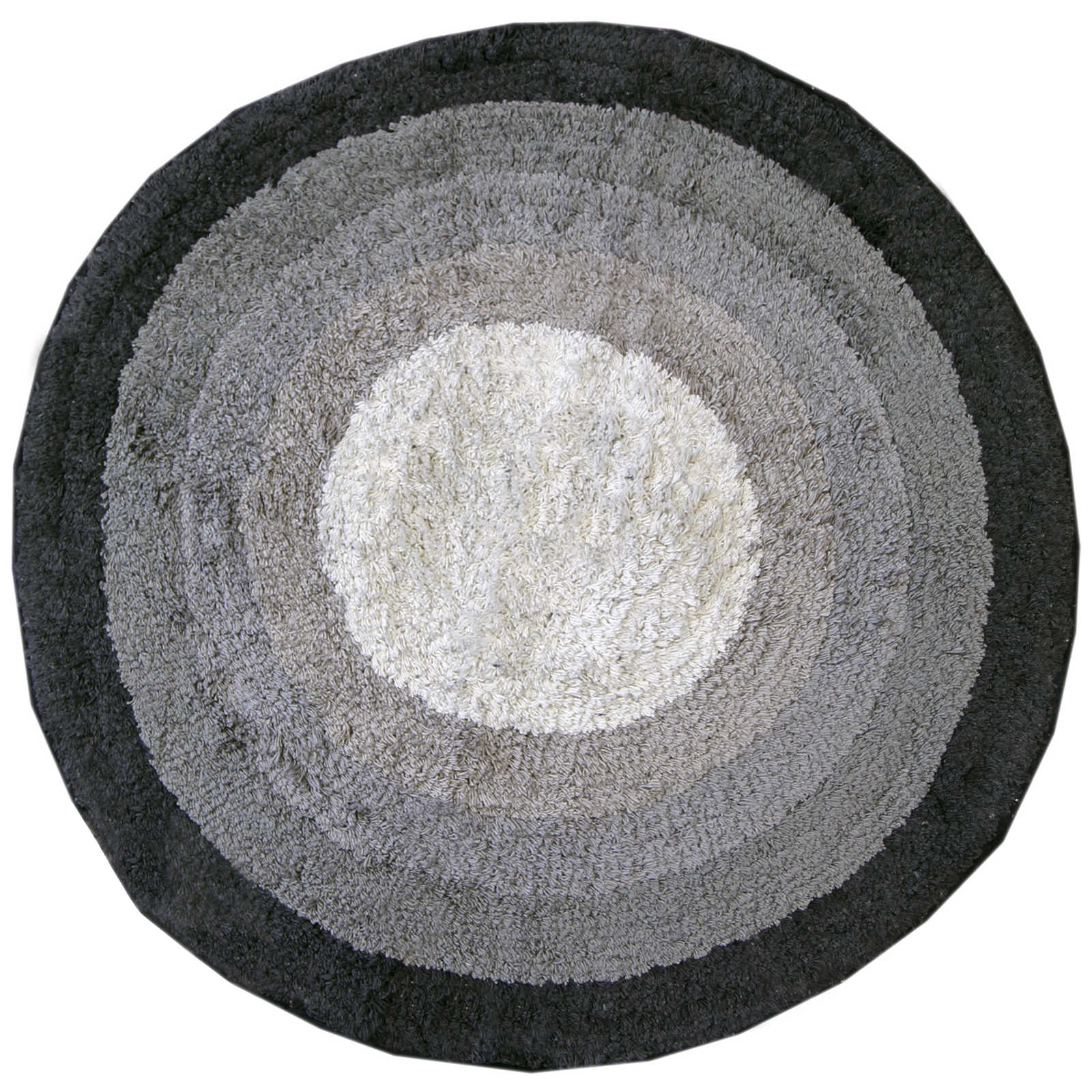 White Bath Mat Round Rug Shag Non Slip Ultra Plush Microfiber Highly Water Absorbent Durable and Washable for Bathroom 4 Feet Round. by Masada Rugs. Sherry Kline Tufted Petals Black 32