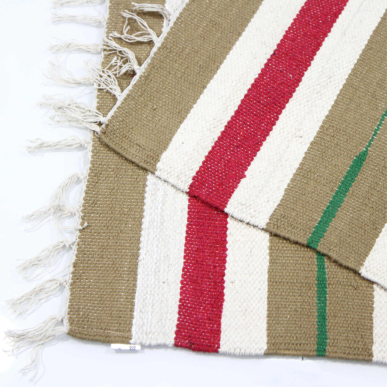 Colourful 100 Cotton Striped Flat Woven Rug 55x85cm Kitchen Living Room Ebay
