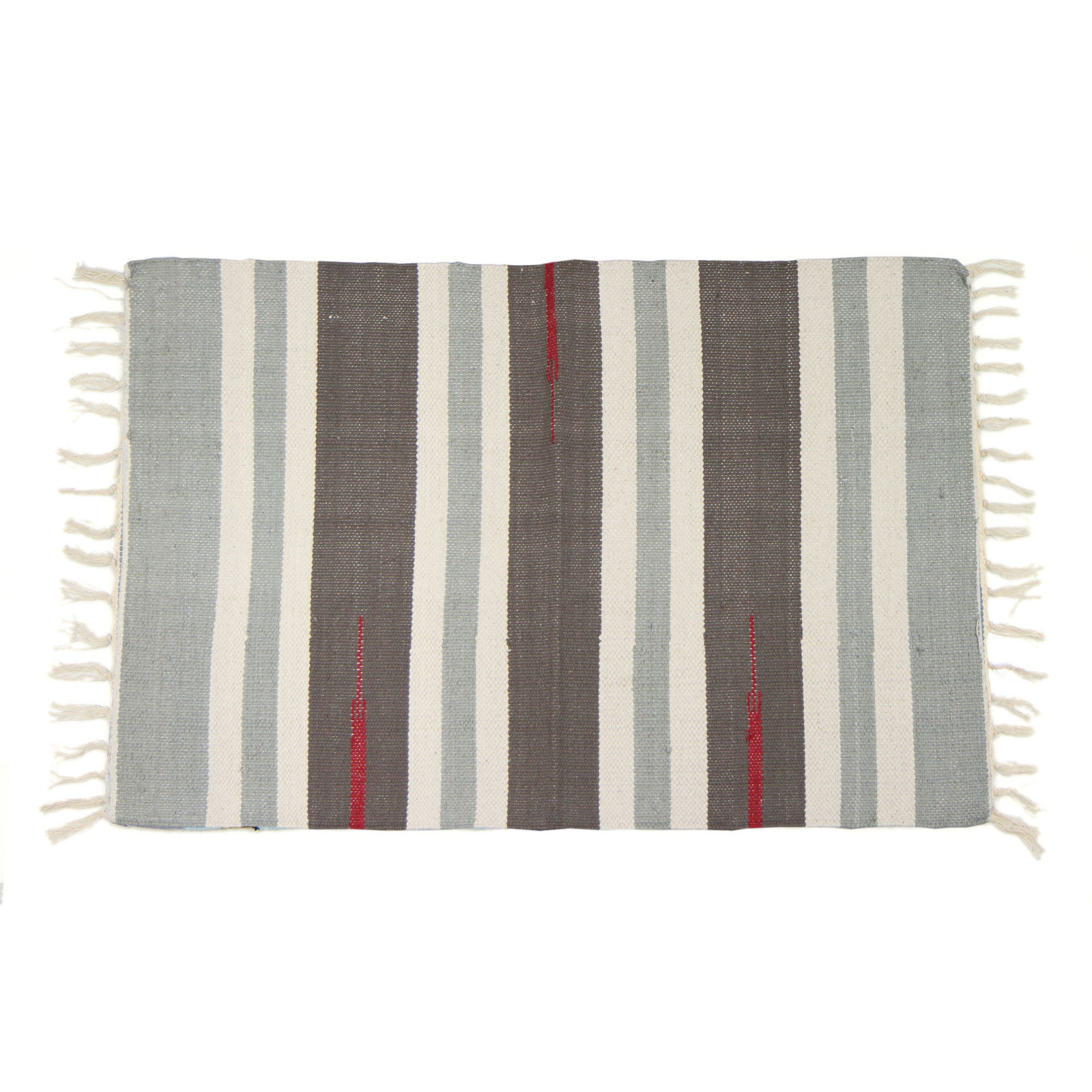 Woven Kitchen Rugs: Colourful 100 % Cotton Striped Flat Woven Rug