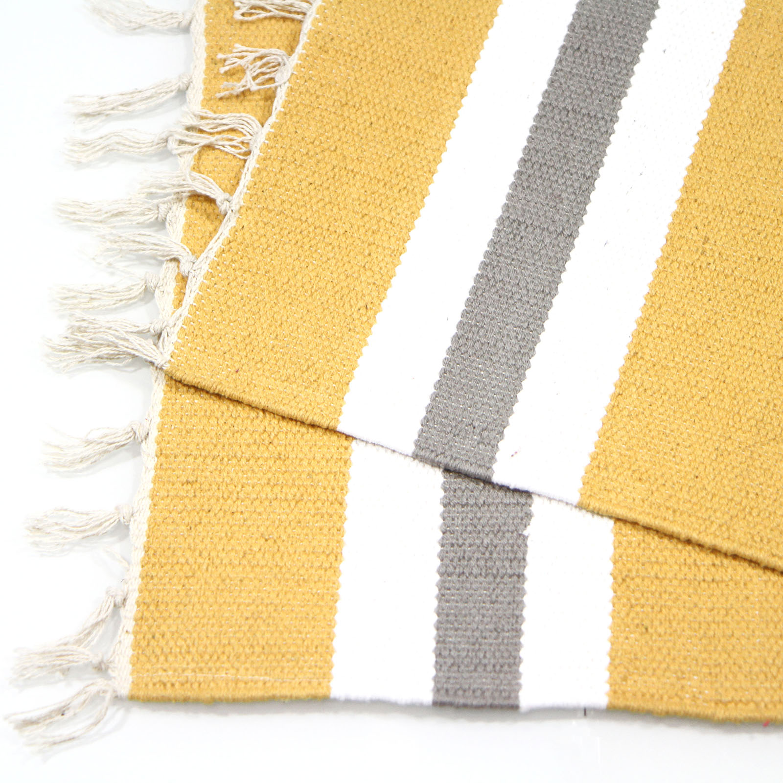 Colourful 100 % Cotton Striped Flat Woven Rug