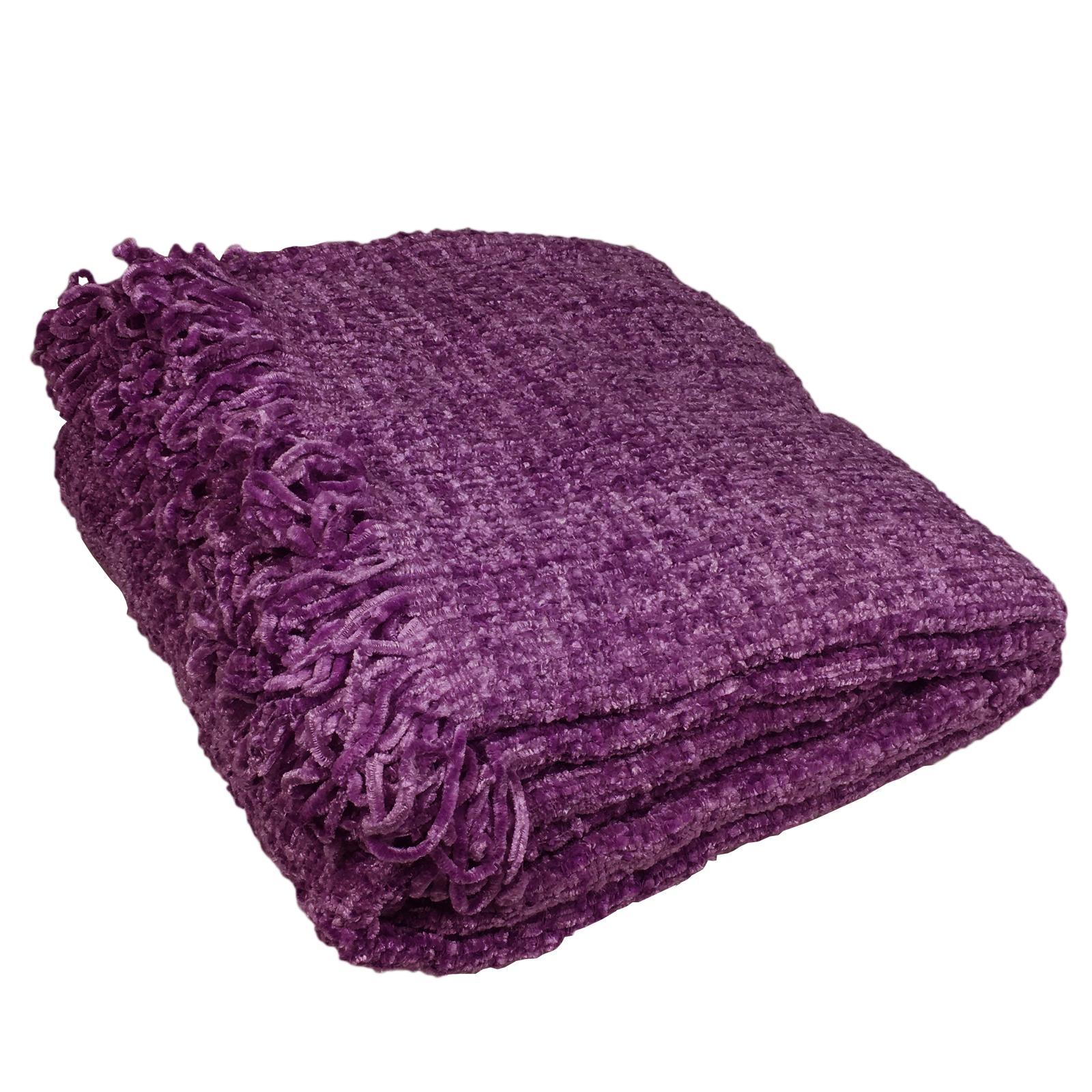 luxury chenille throw  large warm thermal woven throw over  sofa  - luxurychenillethrowlargewarmthermalwoventhrow