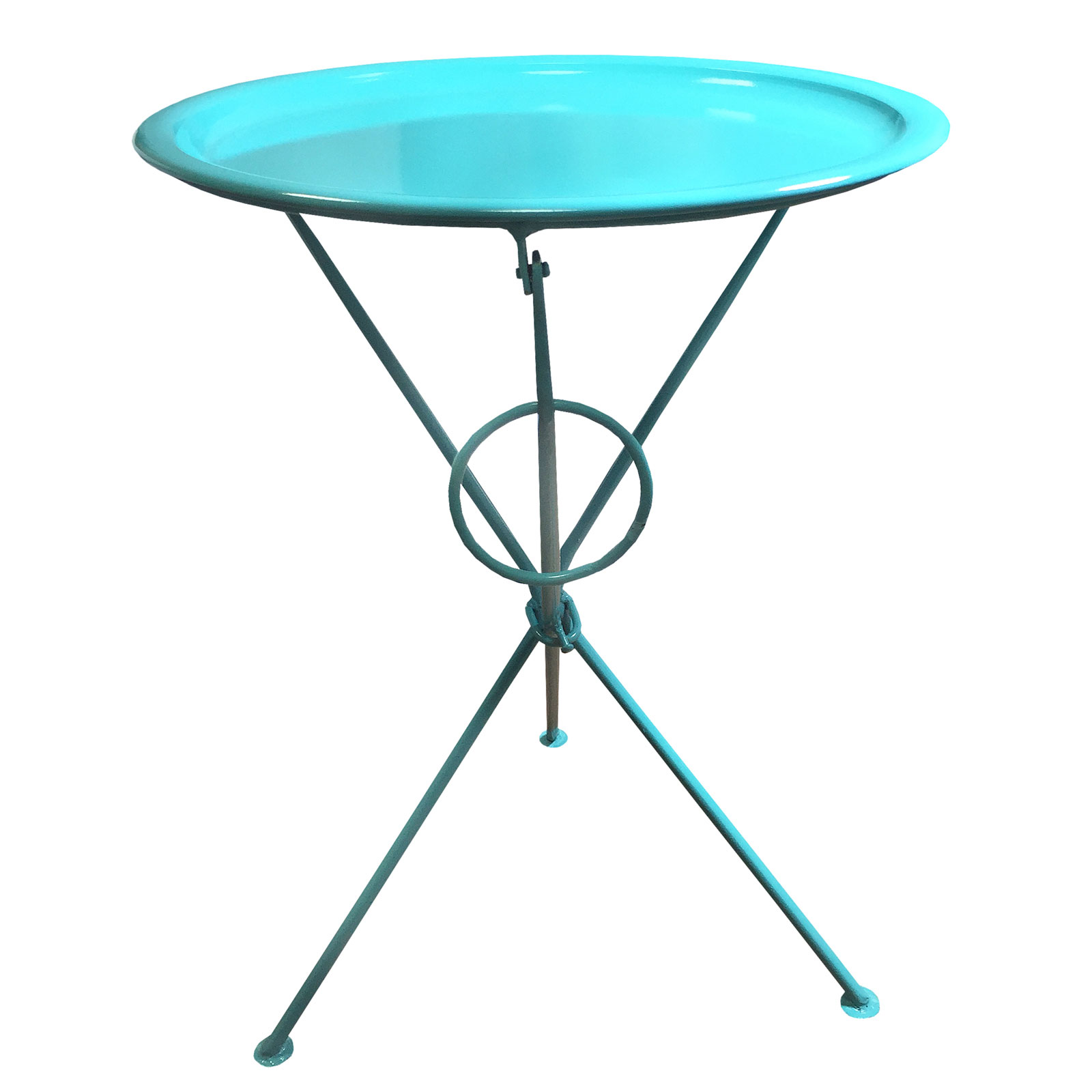 Bright Coloured Metal Folding Coffee Side Table With