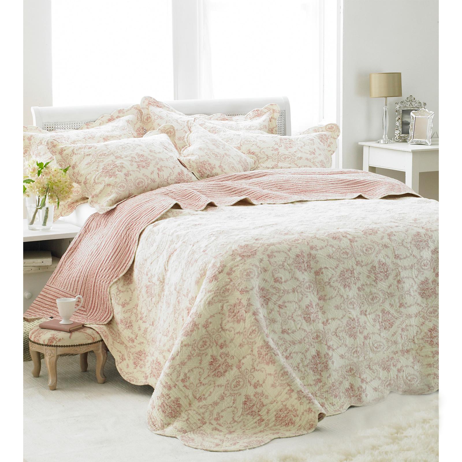 franz sisch vintage toile tagesdecke luxus 100 baumwolle weich gestepptes bett. Black Bedroom Furniture Sets. Home Design Ideas