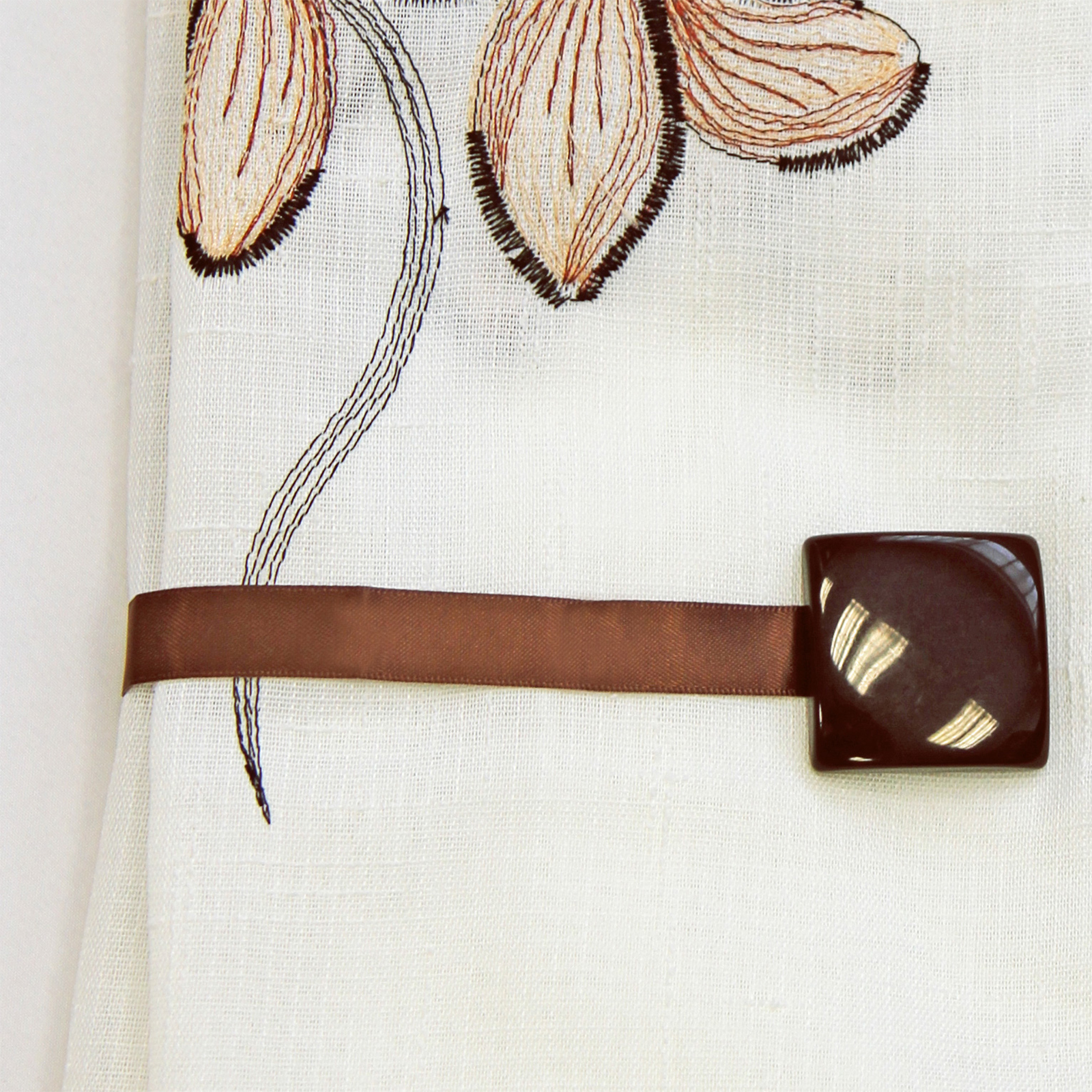 Magnetic Curtain Tie Back Square Holdback For Voile Nets