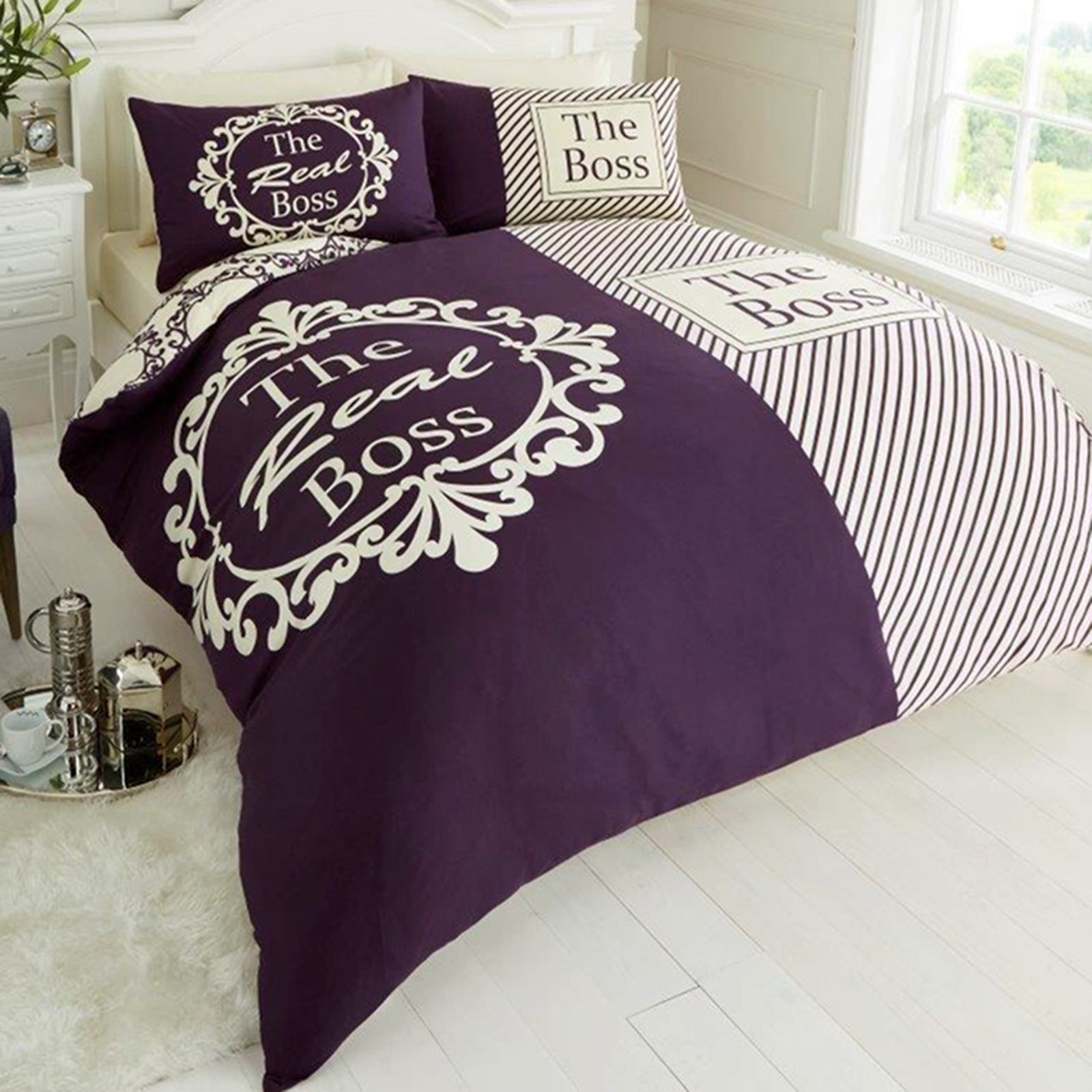 the real boss fun duvet cover  reversible bedding  ebay - the real boss fun duvet cover  reversible bedding
