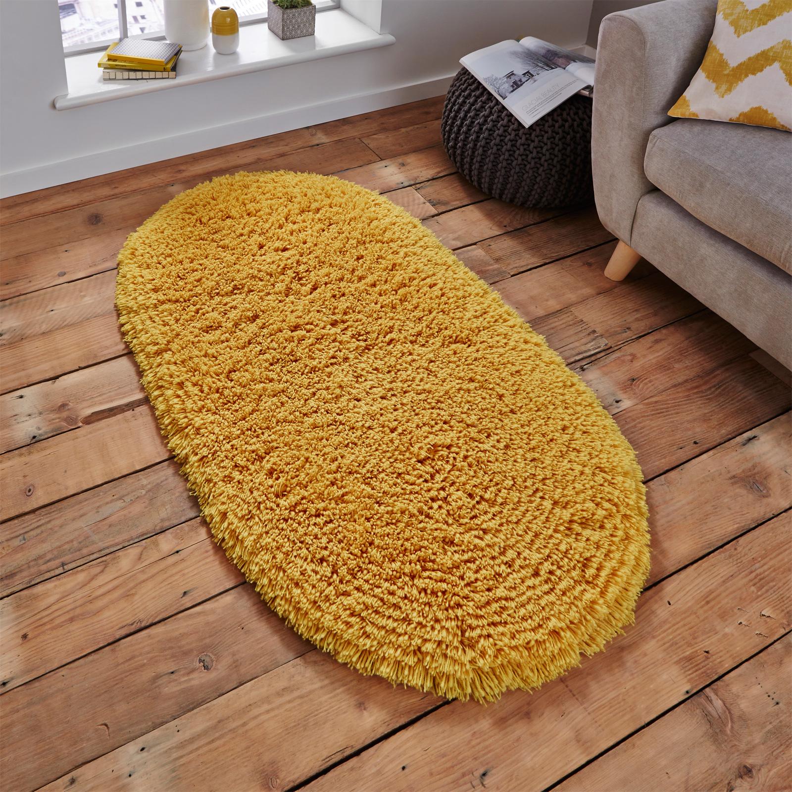 Oval Shaped Carpet Rug