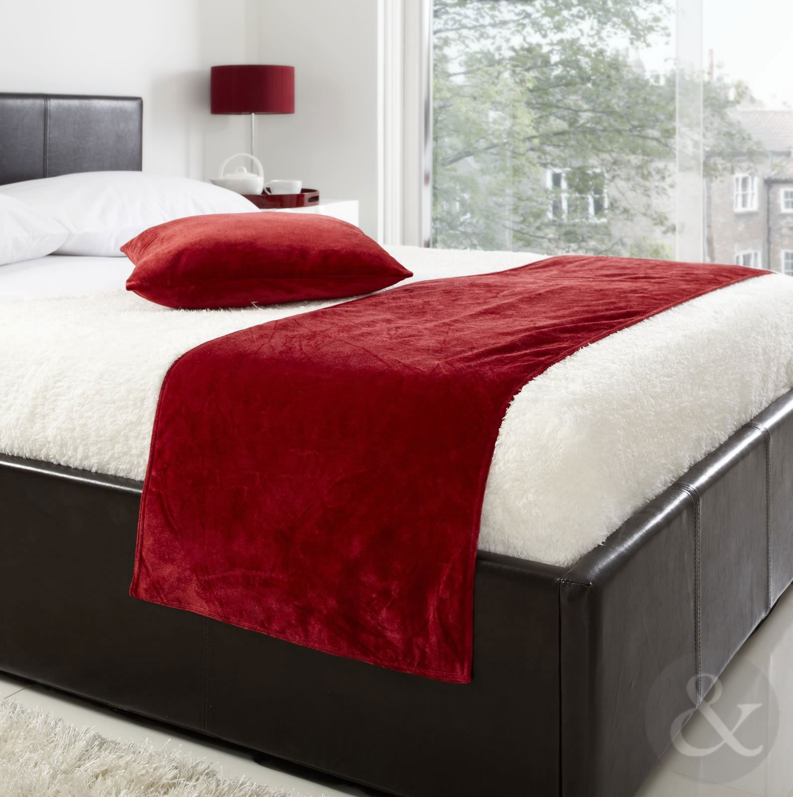 Soft Luxury Velvet Bed Runner 19 X 78 Plain Bed