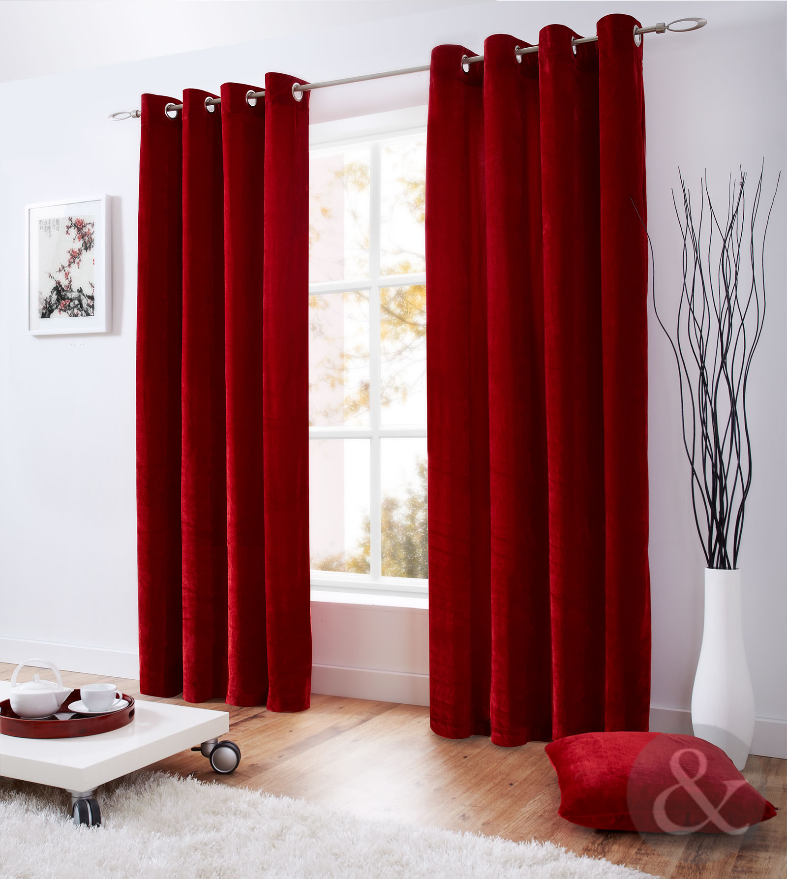 majestic velvet curtains modern ready made fully lined with ring top eyelets ebay. Black Bedroom Furniture Sets. Home Design Ideas