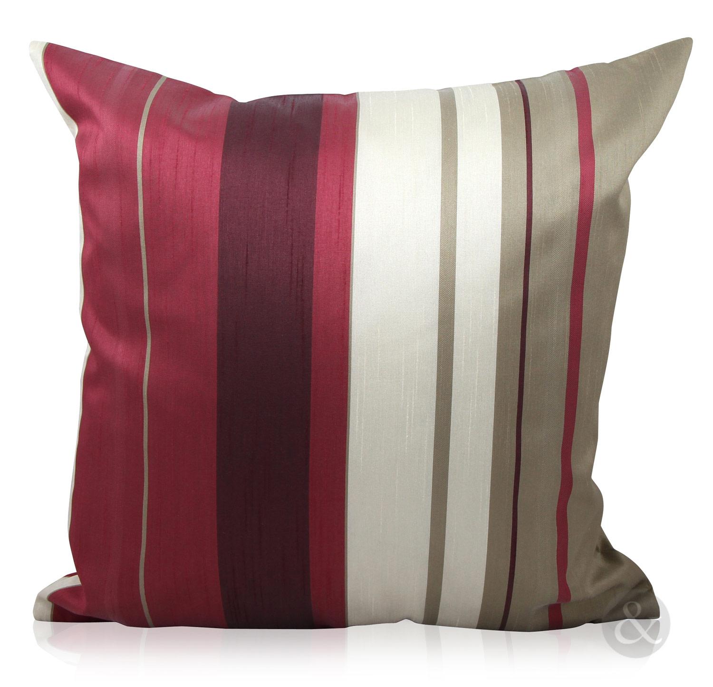 Purple silk curtains - Luxury Striped Faux Silk Curtains Ready Made Eyelet