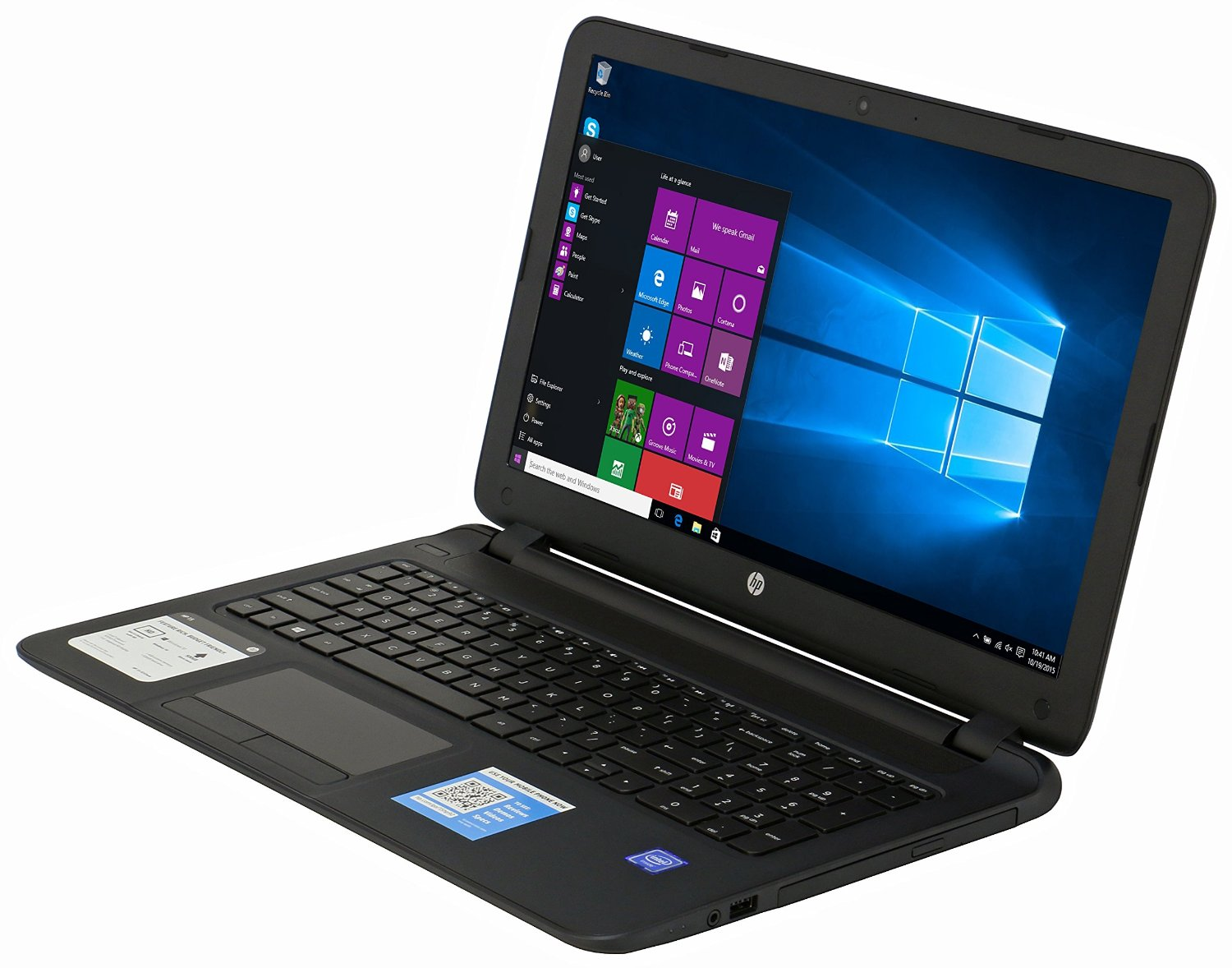 hp 15 f233wm laptop intel n3050 4gb 500gb dvd rw 15 6 hdmi windows 10 ebay. Black Bedroom Furniture Sets. Home Design Ideas