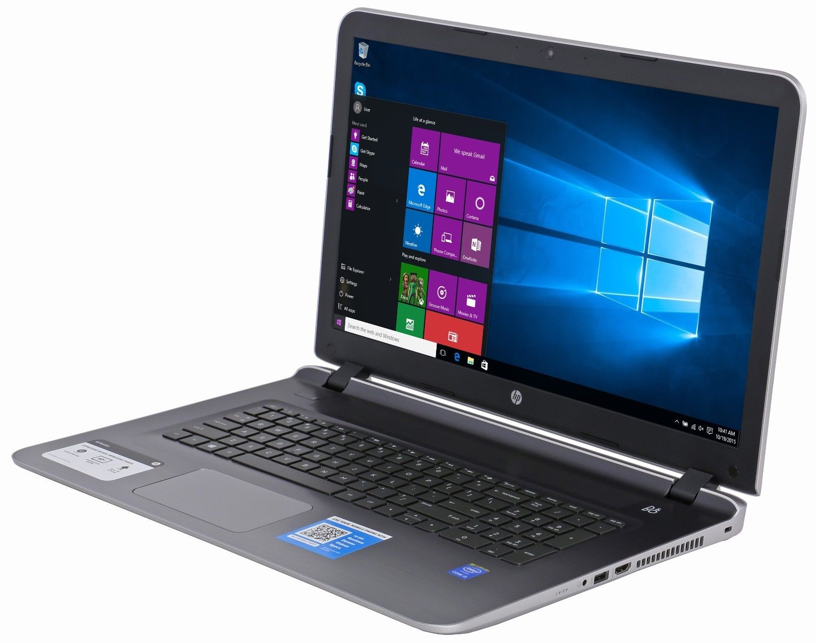 new hp pavilion 17 g119dx intel core i5 1tb 4gb 17 3 hdmi webcam dvd rw win 10 ebay. Black Bedroom Furniture Sets. Home Design Ideas