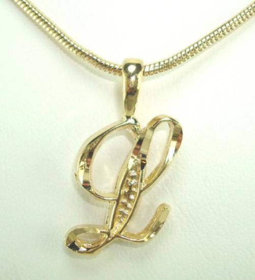 18 initial letter l pendant necklace lifetime warranty