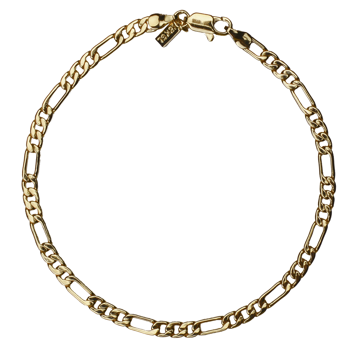 18k gold plated figaro chain anklet ankle bracelet for Is gold plated jewelry worth anything
