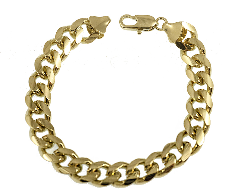 18K Gold Plated Cuban/Curb Link Chain Necklace or Bracelet - Lifetime Warranty