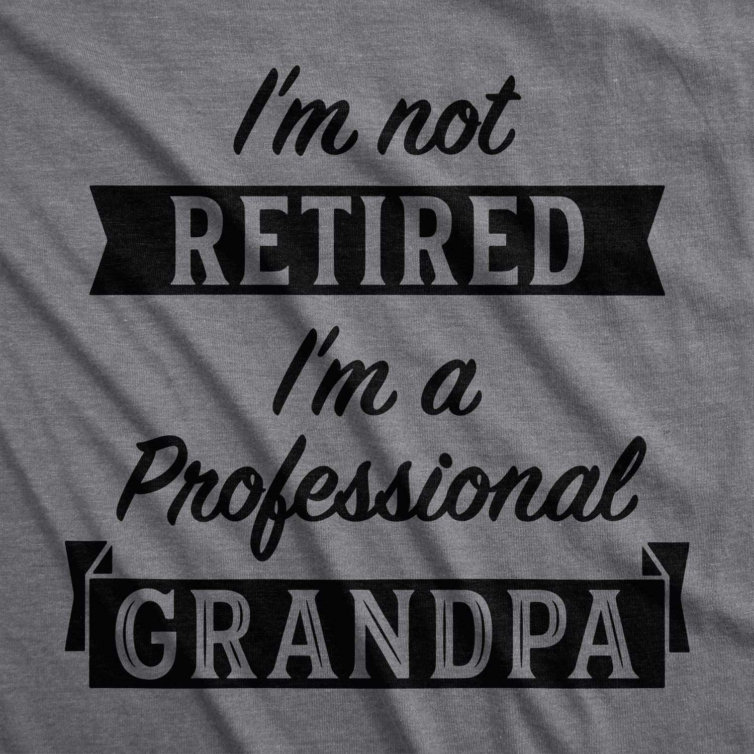 Mens Im Not Retired Im A Professional Grandpa T Shirt Funny Papa Fathers Day Tee