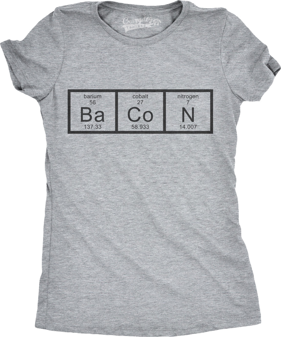 Womens chemistry of bacon t shirt funny periodic table tee for womens chemistry of bacon t shirt funny periodic gamestrikefo Gallery