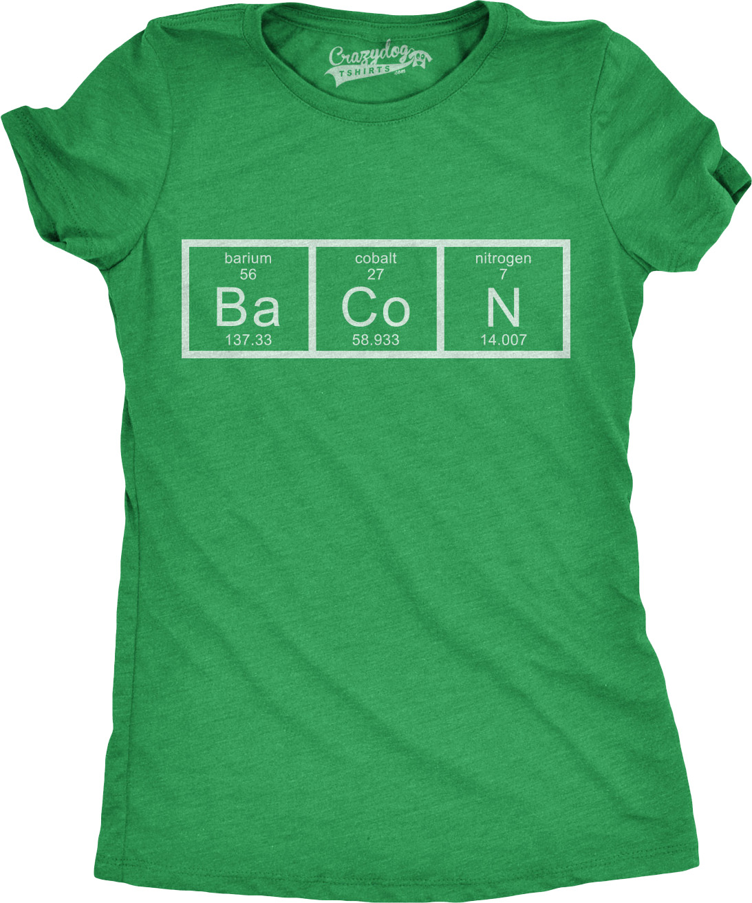 Womens chemistry of bacon t shirt funny periodic table tee for womens chemistry of bacon t shirt funny periodic urtaz Gallery