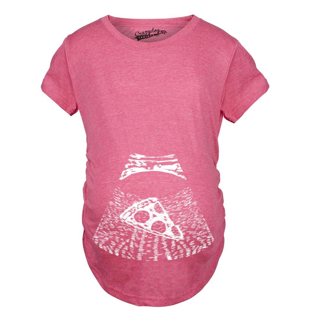 Maternity Ultrasound Pizza Funny T shirt Cheap Pregnancy ...