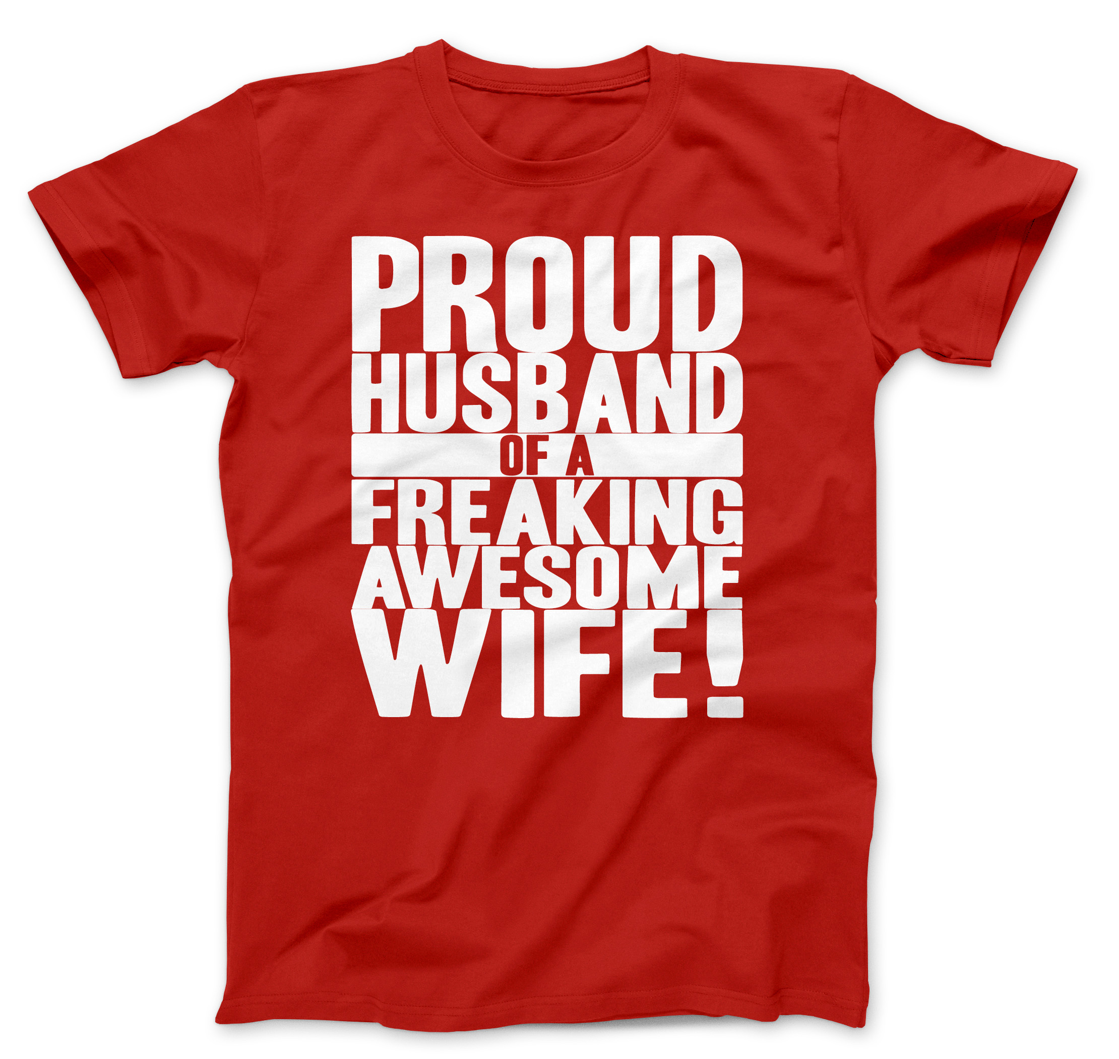Mens proud husband of a freaking awesome wife funny for Funny getting married shirts