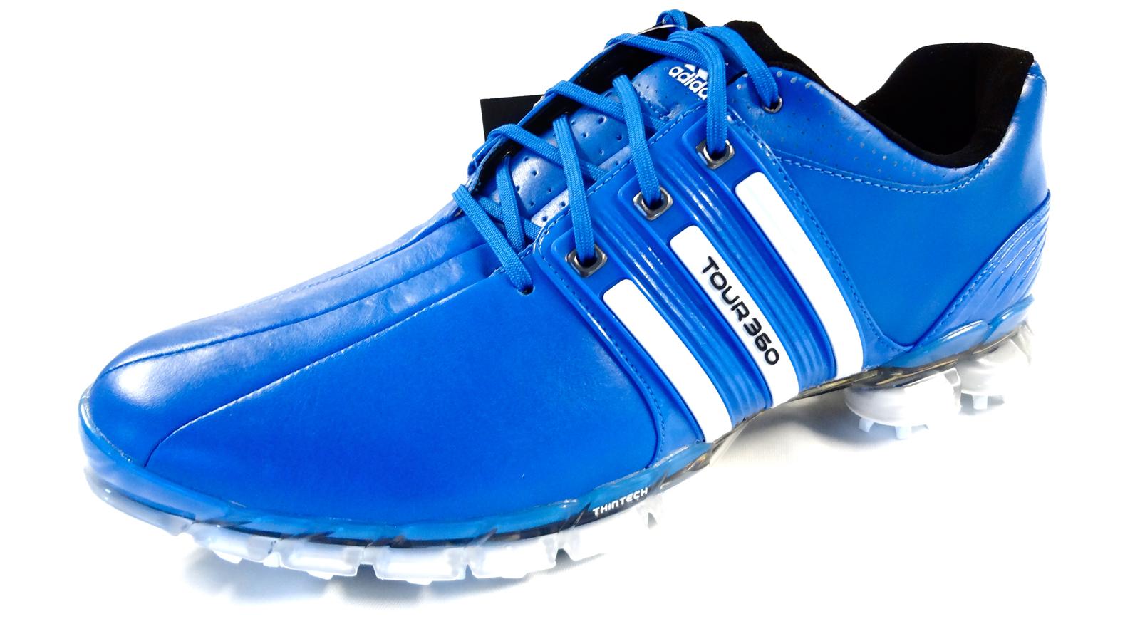 NEW Adidas Tour 360 ATV ROYAL BLUE/WHITE Size 8.5 M Golf Shoes