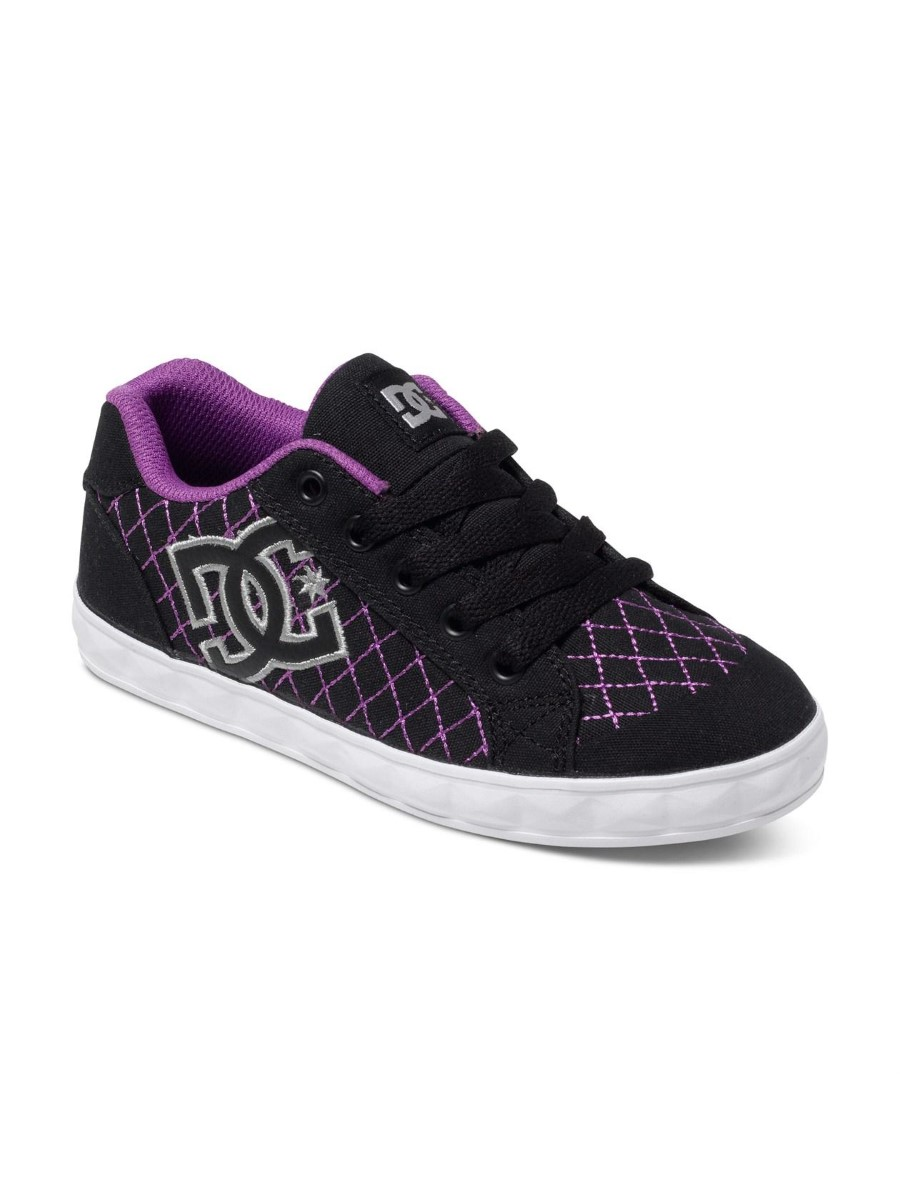 dc shoes chelsea stud shoes adgs300023 black purple