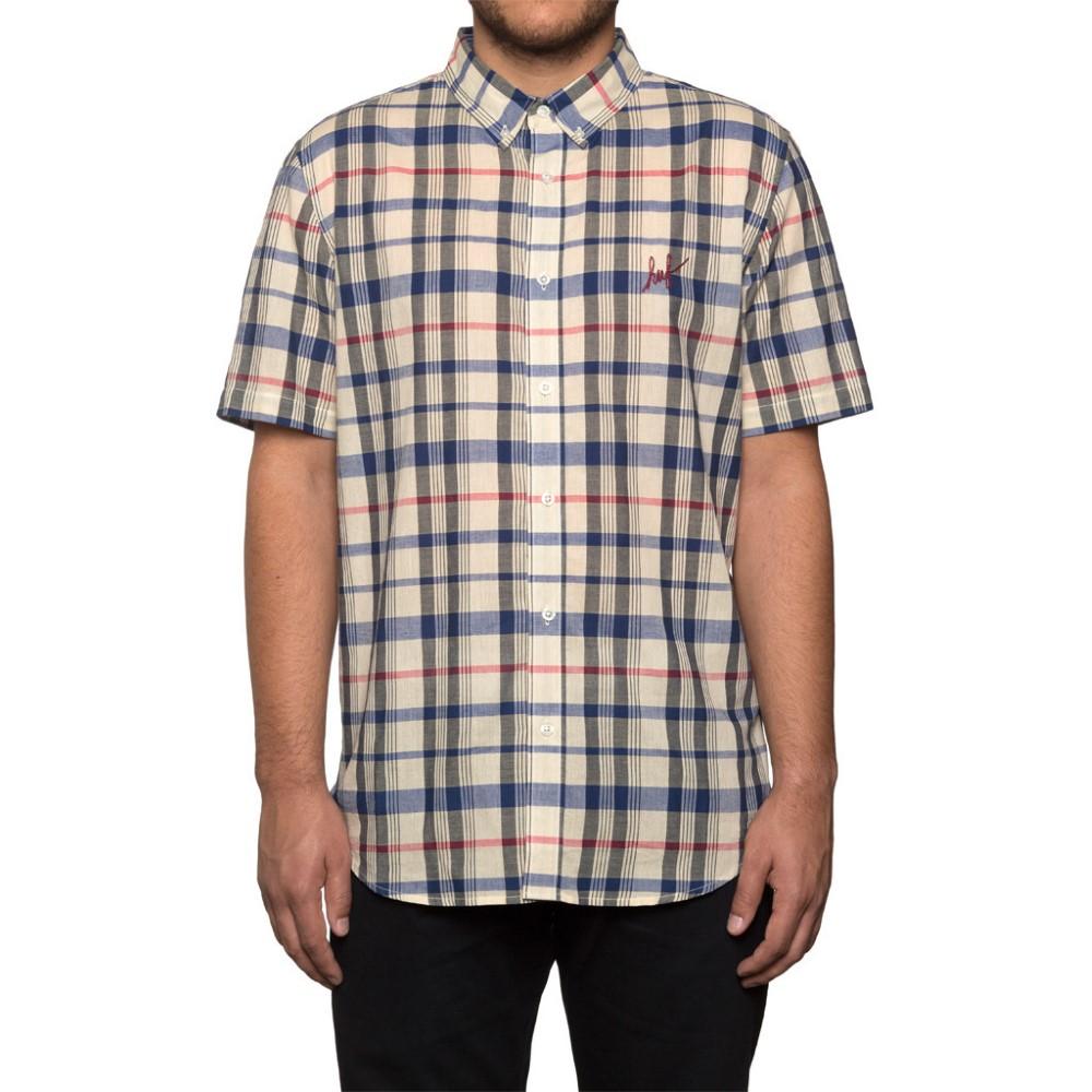 Huf mens madras short sleeve shirt bu61004 for Mens madras shirt sale