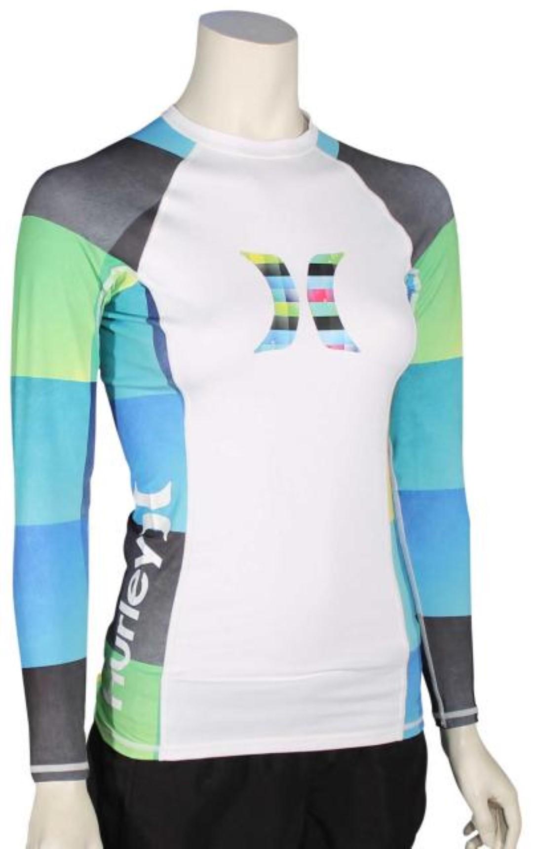 Hurley womens one only long sleeve rashguard grg0000090 for Womens rash guard shirts