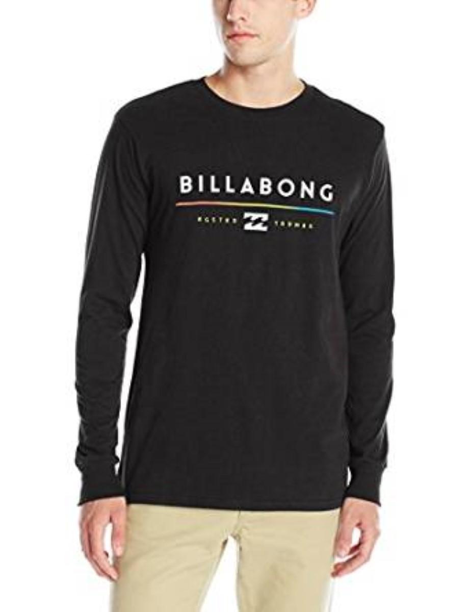 billabong mens tri unity long sleeve t shirt m402gtri ebay
