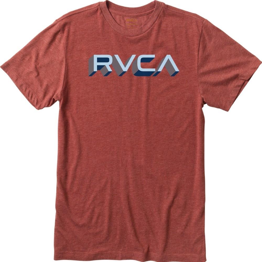 Rvca Men 39 S Third Dimension Short Sleeve T Shirt M603e00t