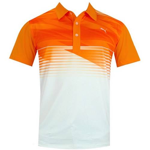 New puma indigital polo men 39 s golf shirt vibrant orange for Mens puma golf shirts