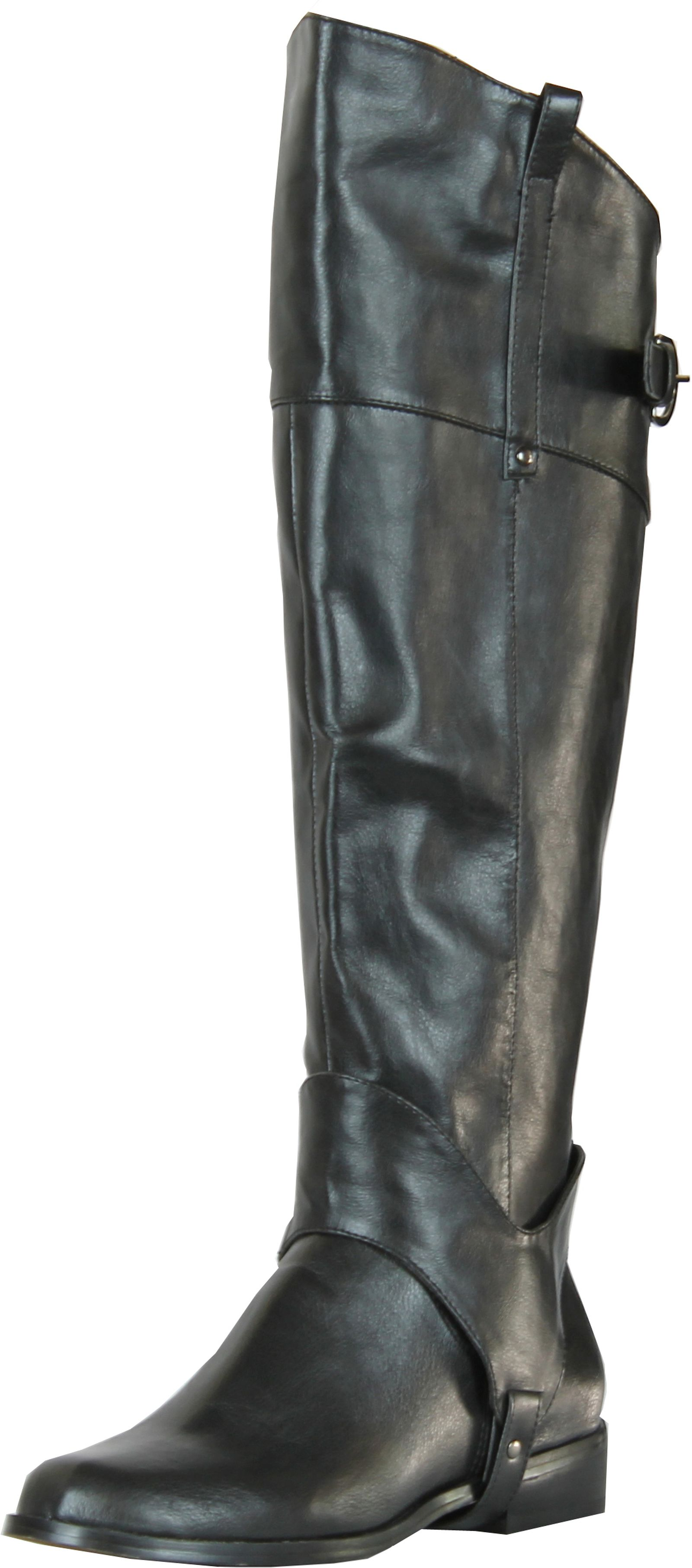 Creative Pebbled Leather With Front And Back Buckle Details Make The Naturalizer Womens Macnair Wideshaft Riding Boot Perfect For A Day On Your Harley, Or Horse Make Your Fashion Debut At Work Or At Play This Fall And Winter In The Smooth And
