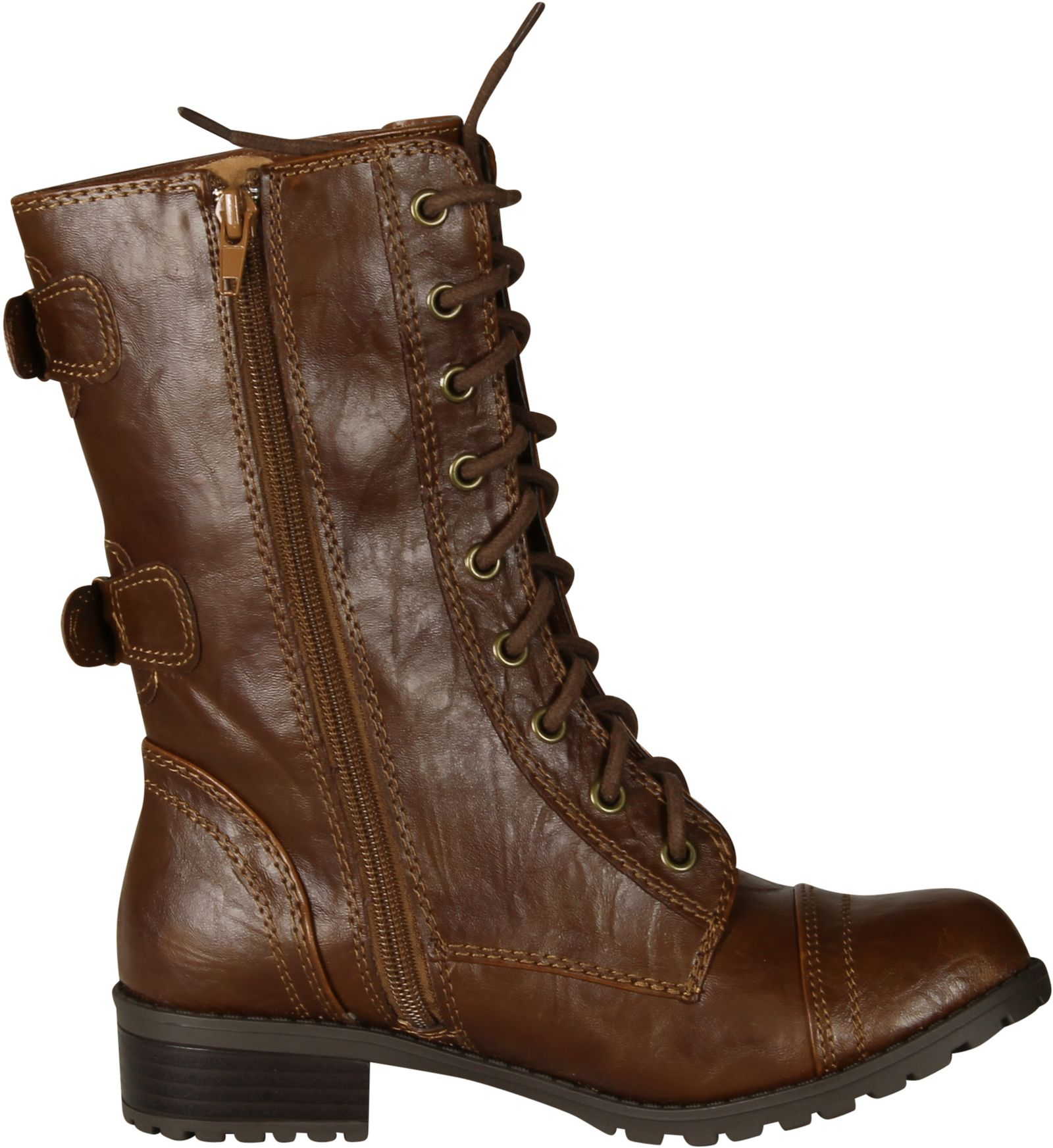 Soda Dome Mid Calf Height Women's Military / Combat Boots | eBay