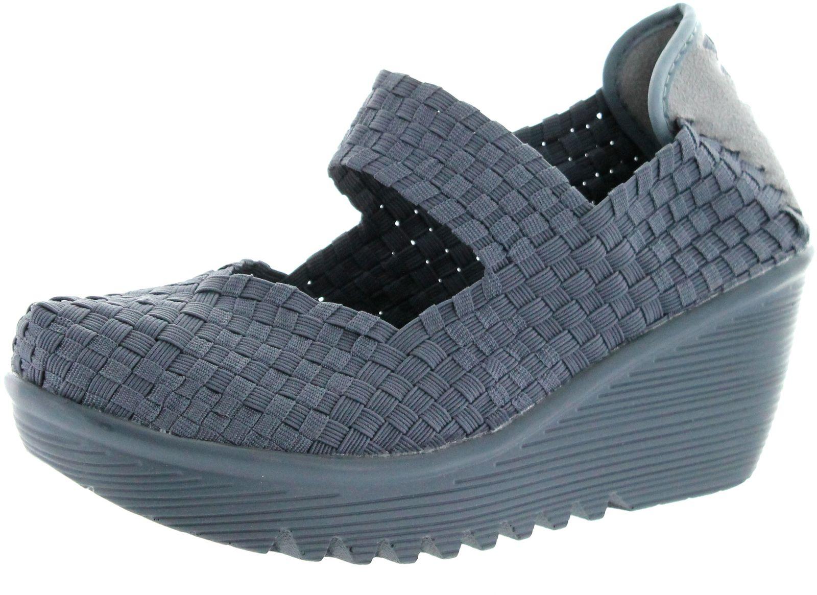 bernie mev womens lulia casual wedge shoes ebay