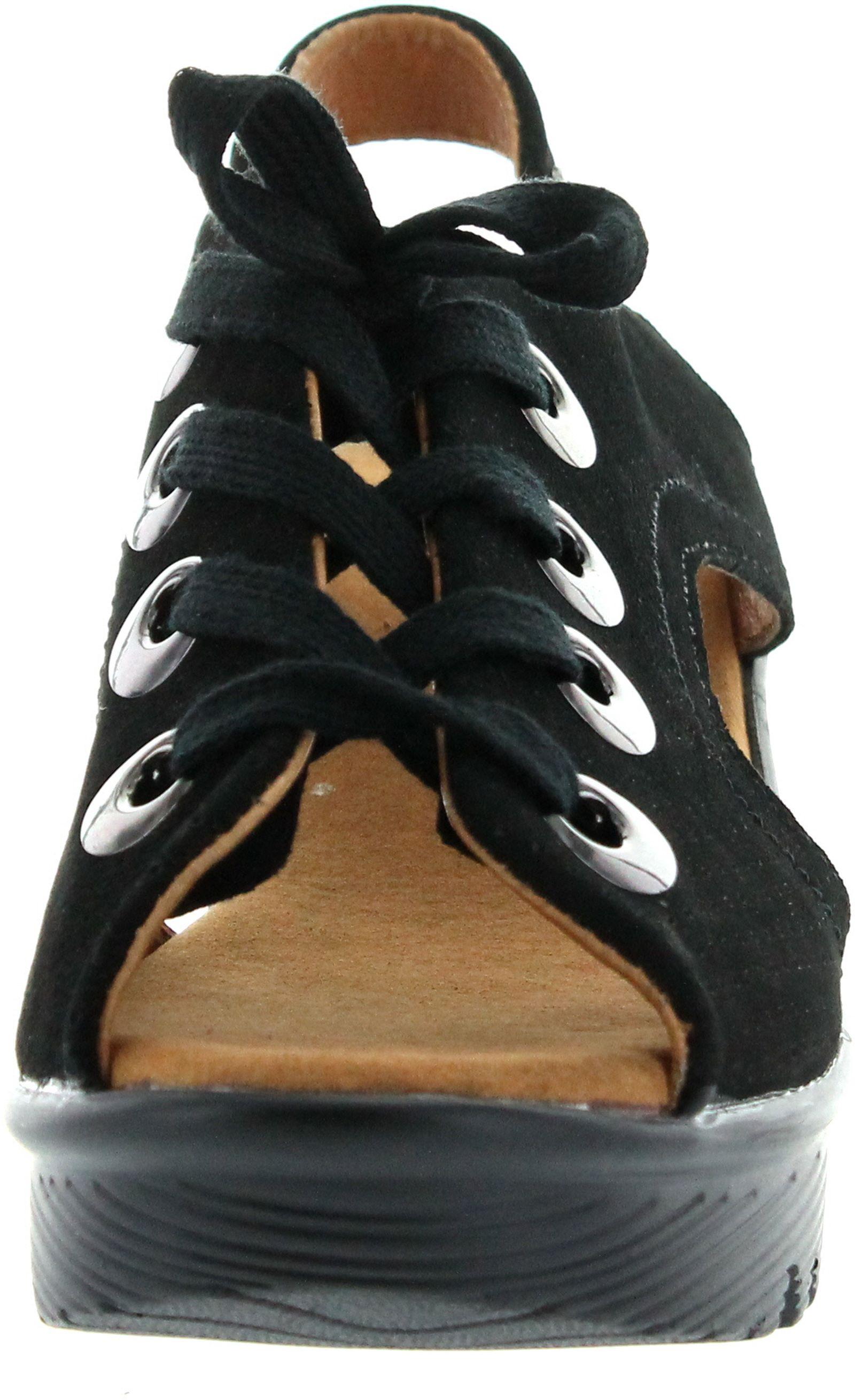 Bernie Mev Womens Marcelo Mid Wedge Heel Sandals