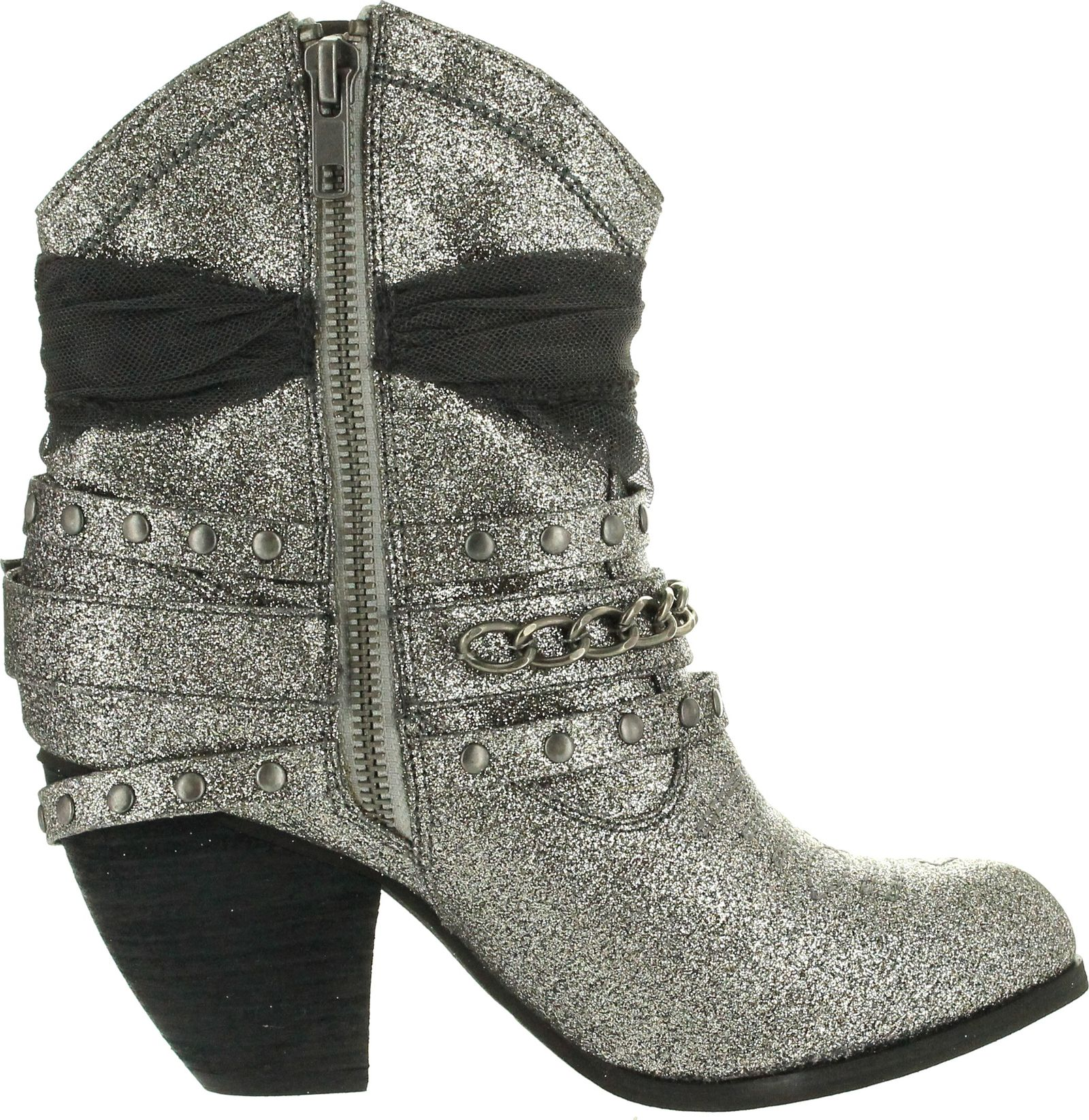 Not Rated Womens Glitzy Trio Harness Fashion Boot