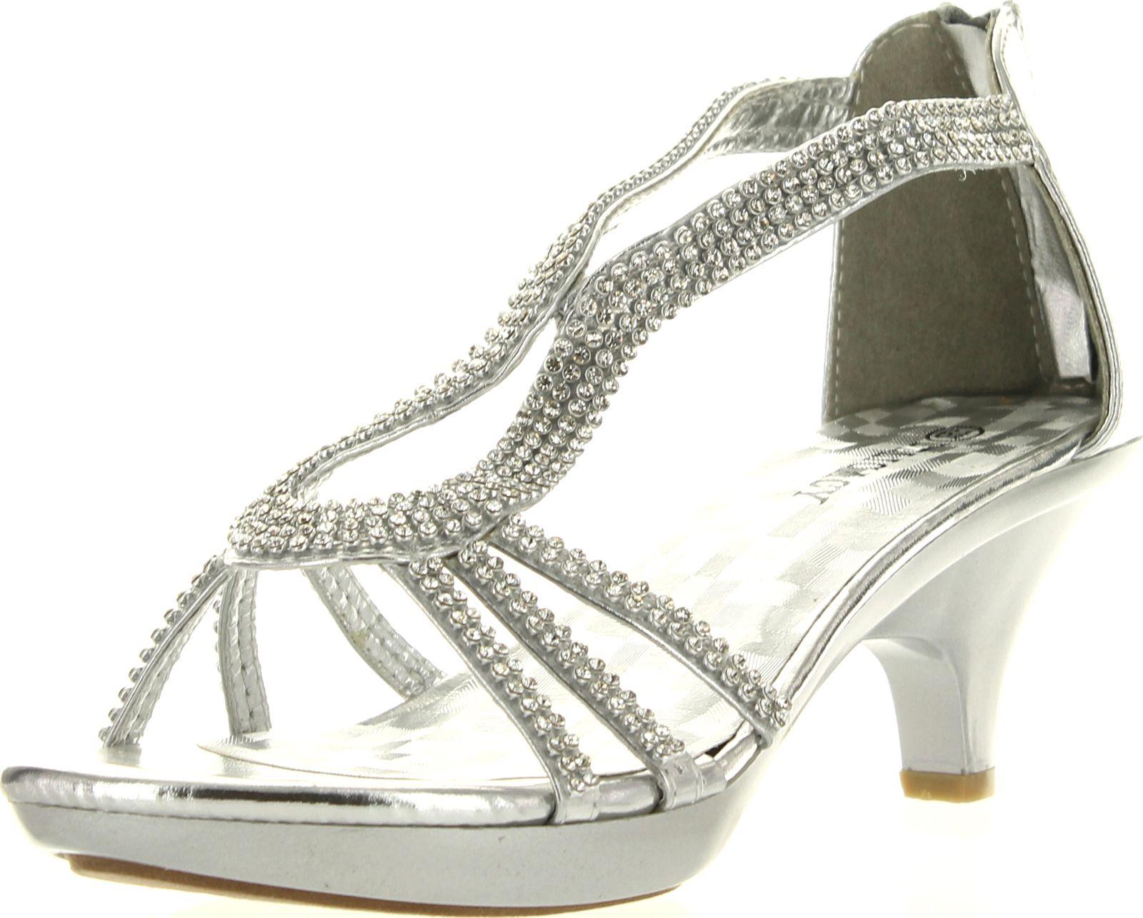 Delicacy Angel 36 Women Dress Sandals Rhinestone Platform Pumps Wedding Bridal Low Heel Shoes